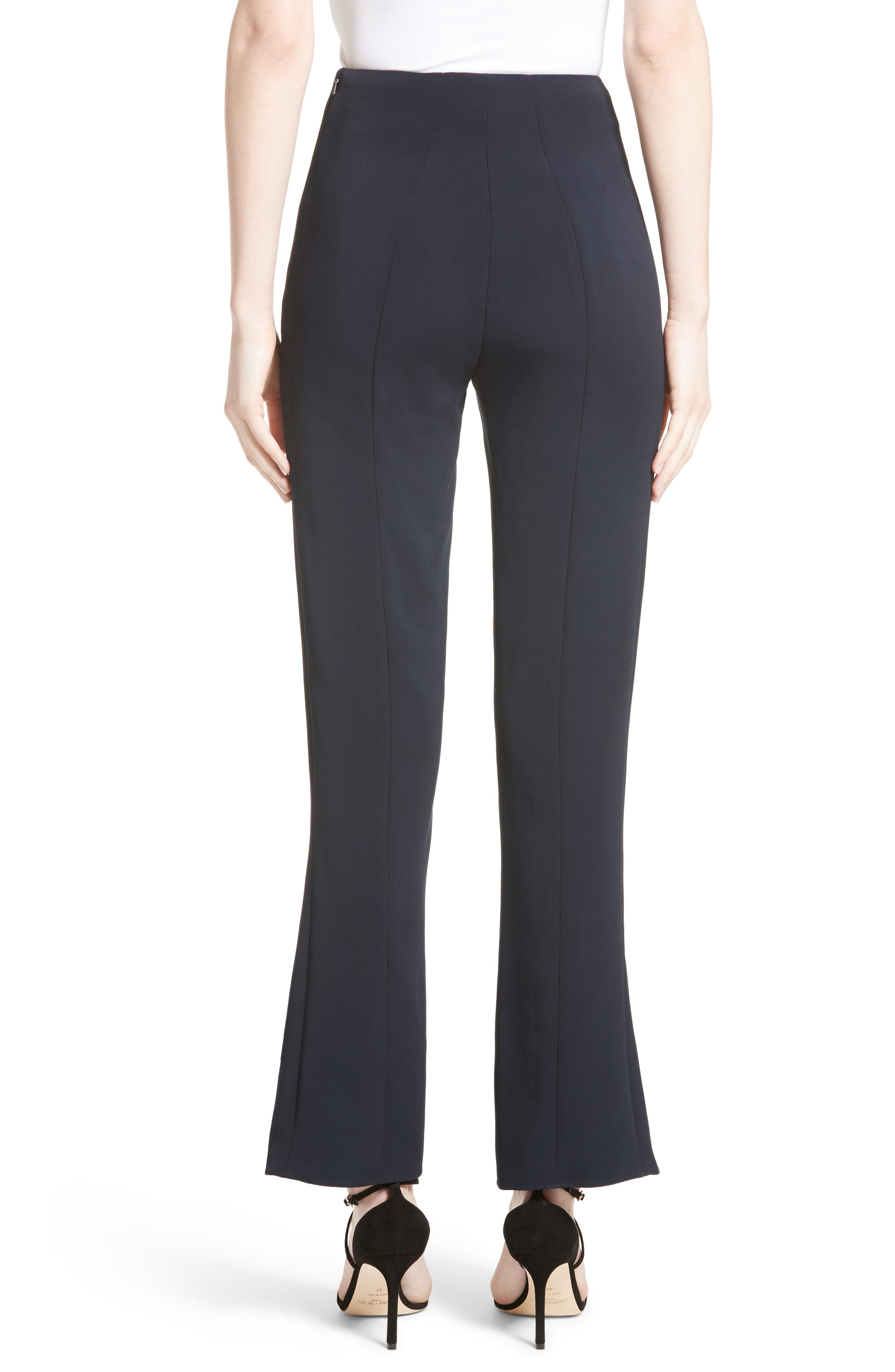 Slit Hem Crop Pants,                             Alternate thumbnail 3, color,                             Midnight