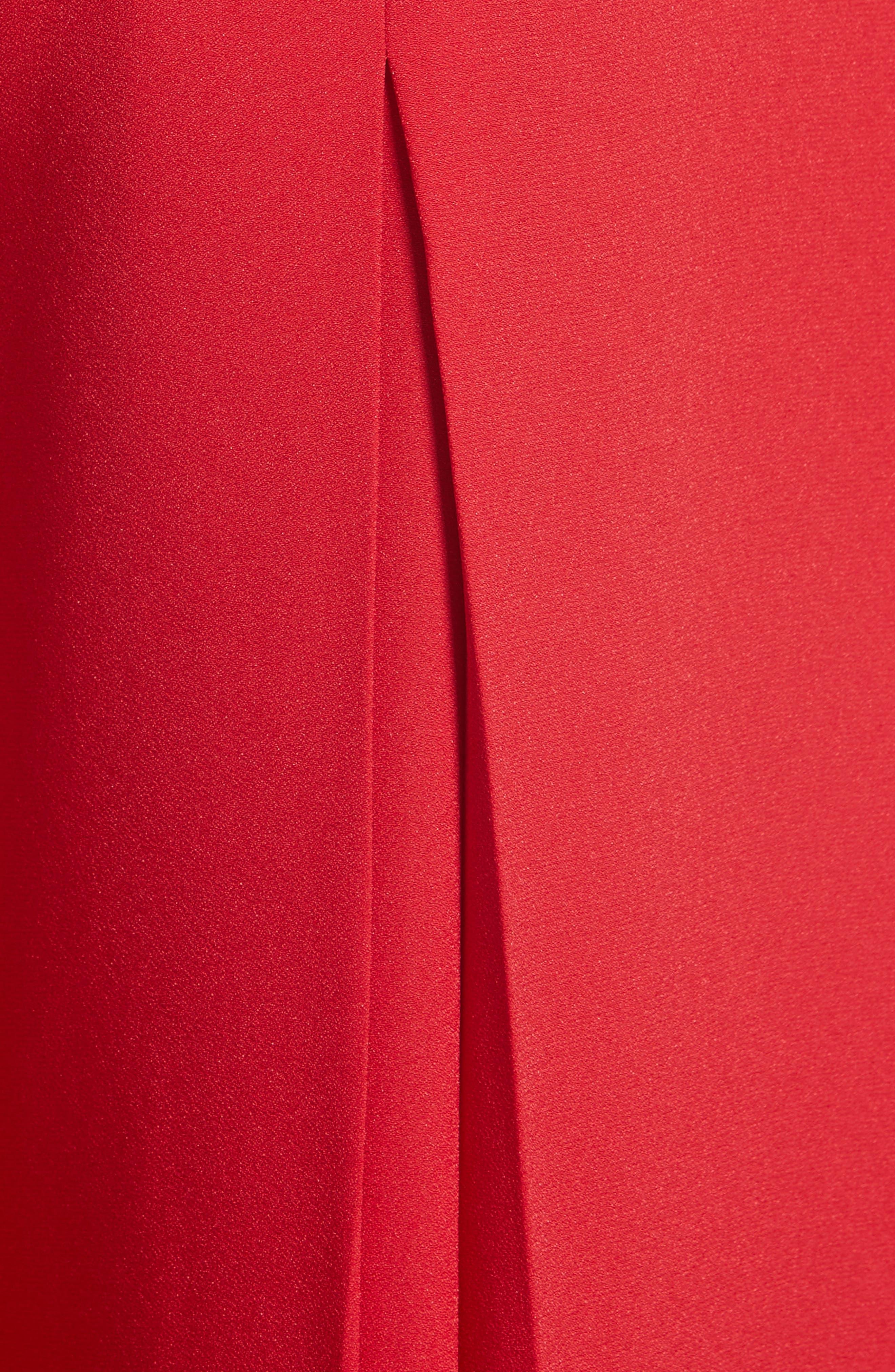 Crepe Cady Wide Leg Pants,                             Alternate thumbnail 7, color,                             Red