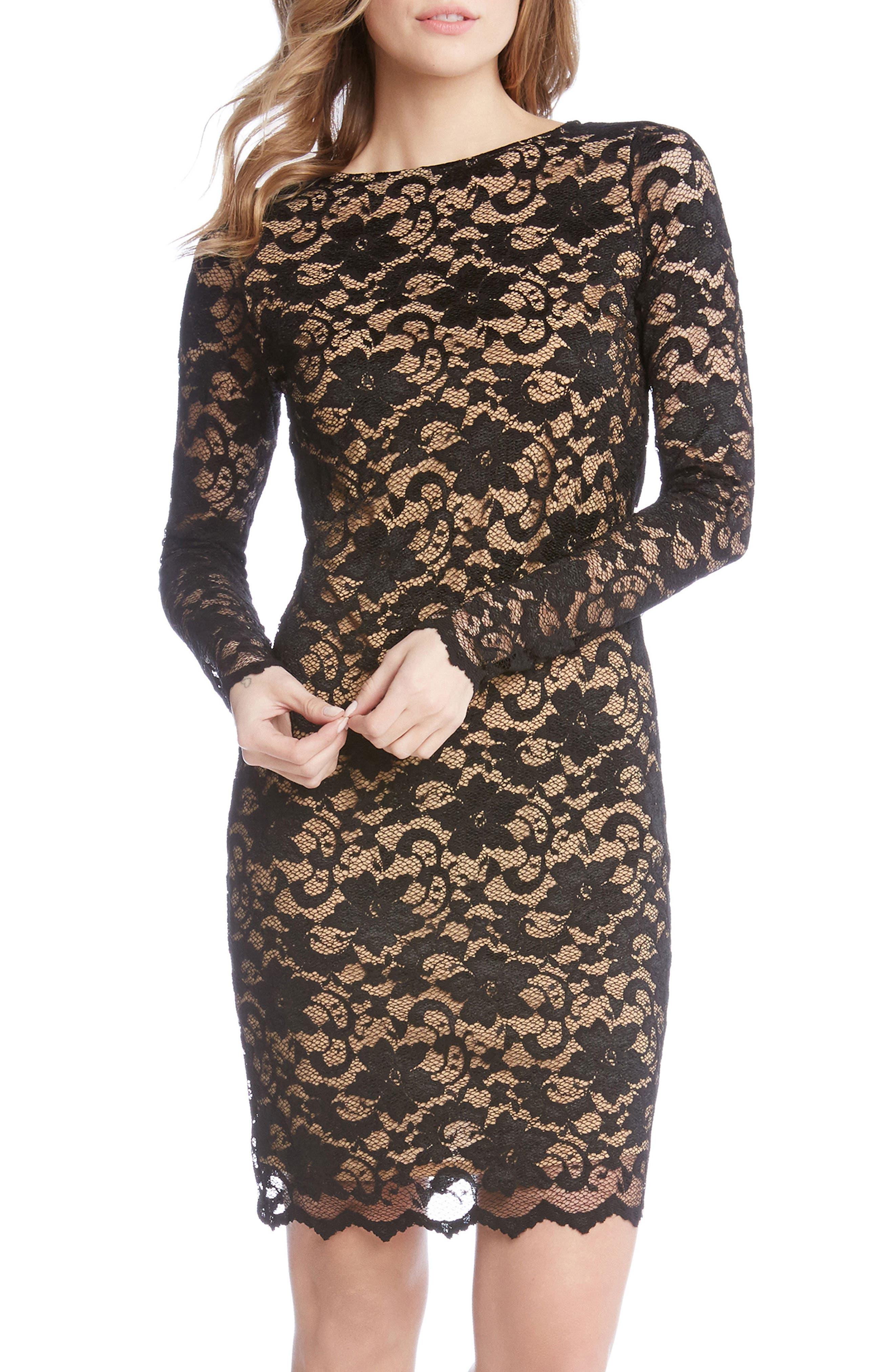 Main Image - Karen Kane Lace Sheath Dress