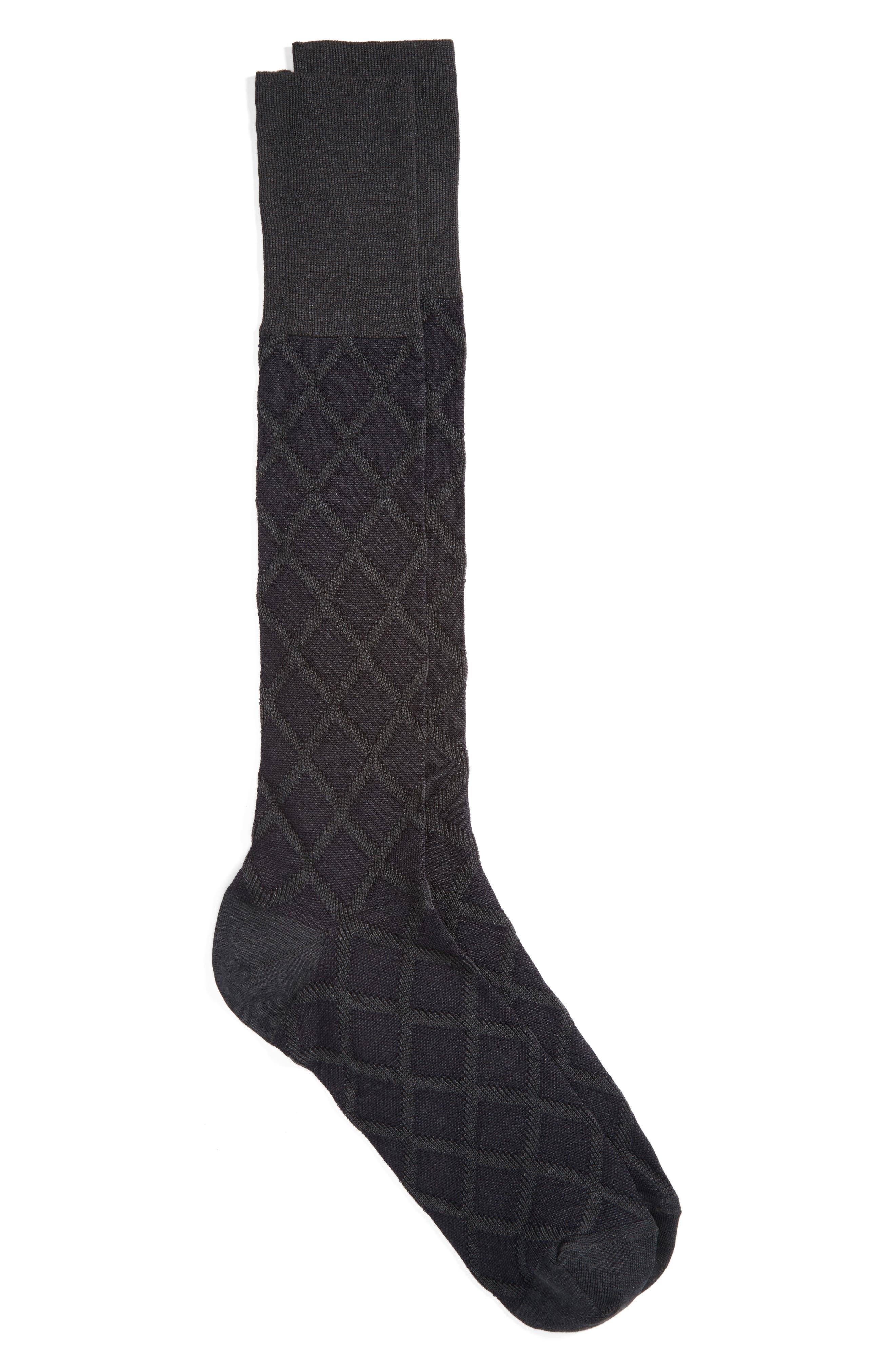 Main Image - John W. Nordstrom® Over the Calf Diamond Socks