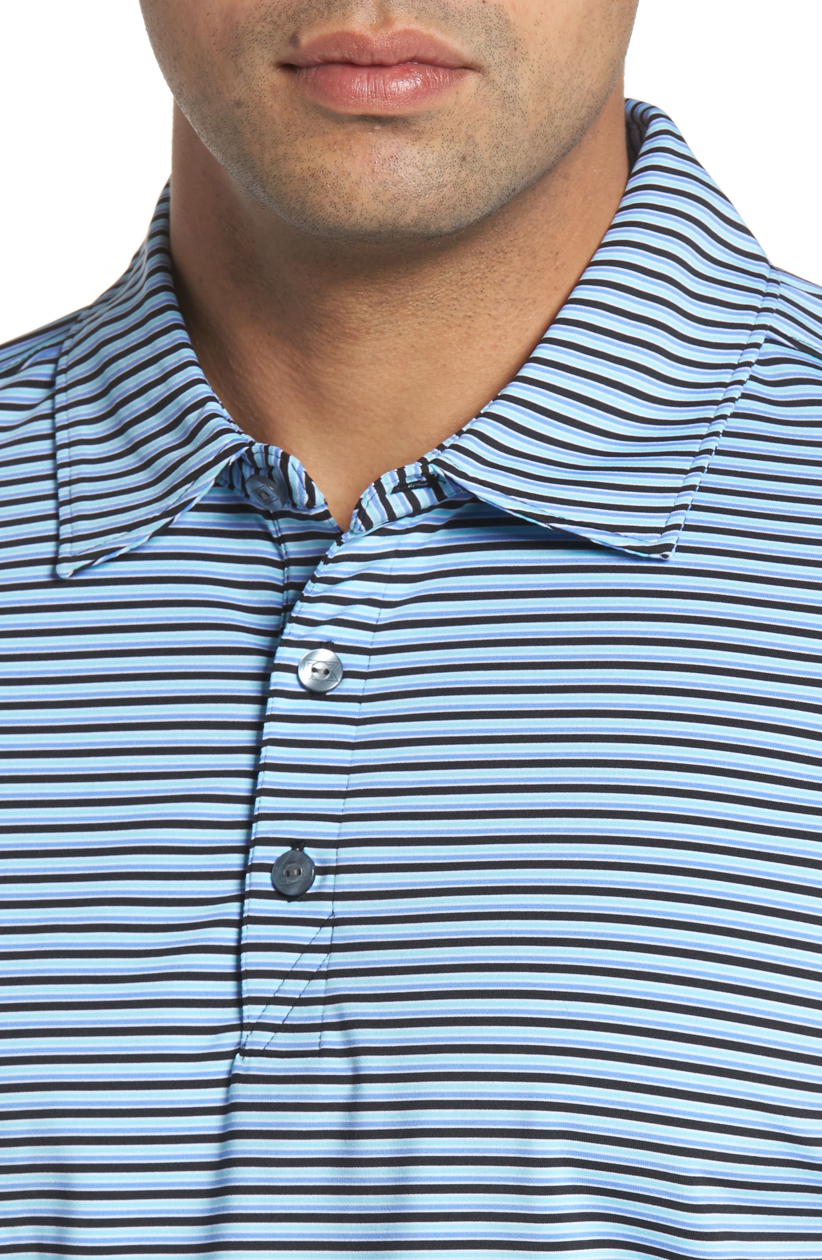 Alternate Image 4  - Cutter & Buck Division Stripe Jersey Polo