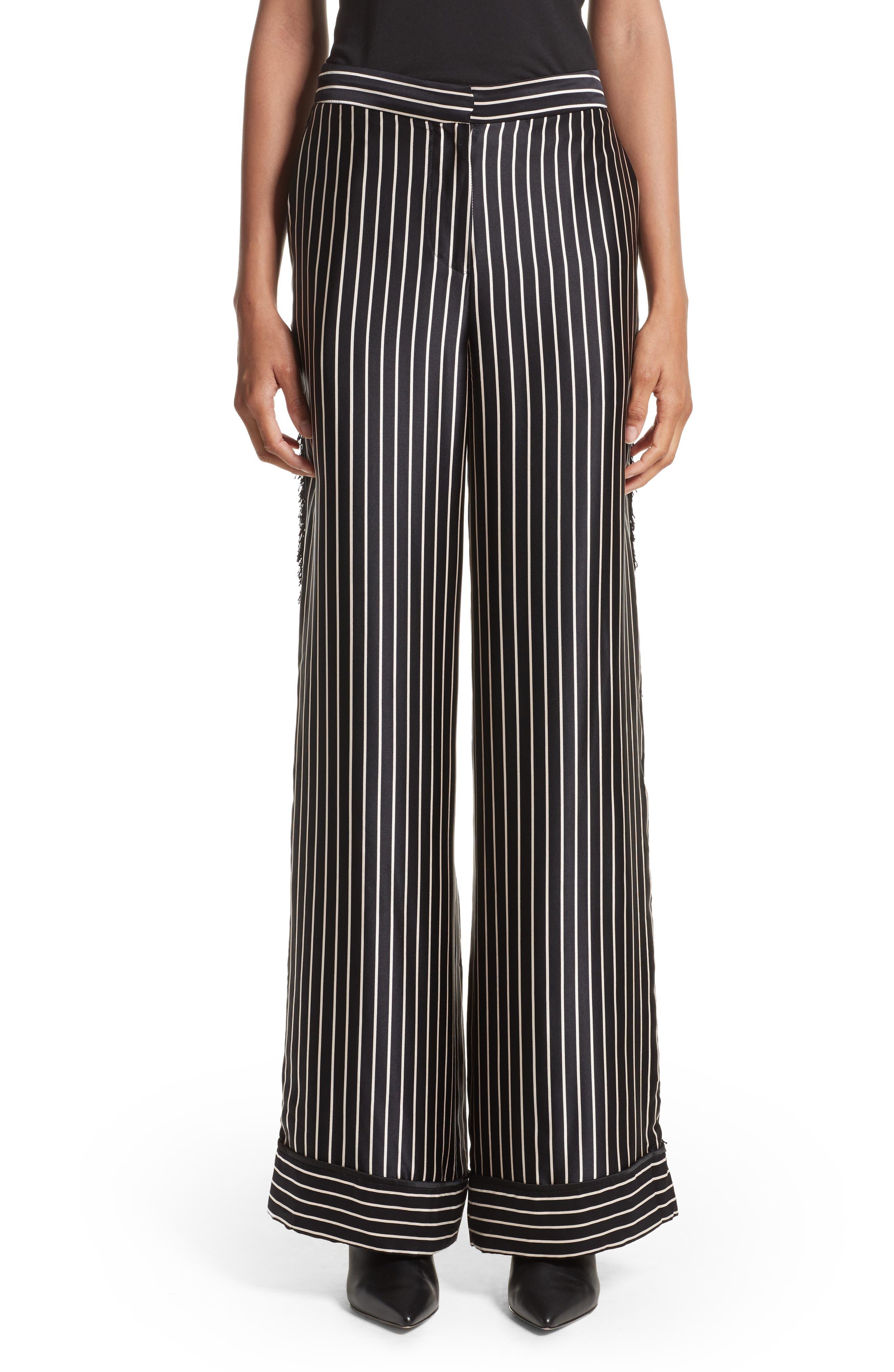 Yigal Azrouël Wide Leg Silk Pajama Pants