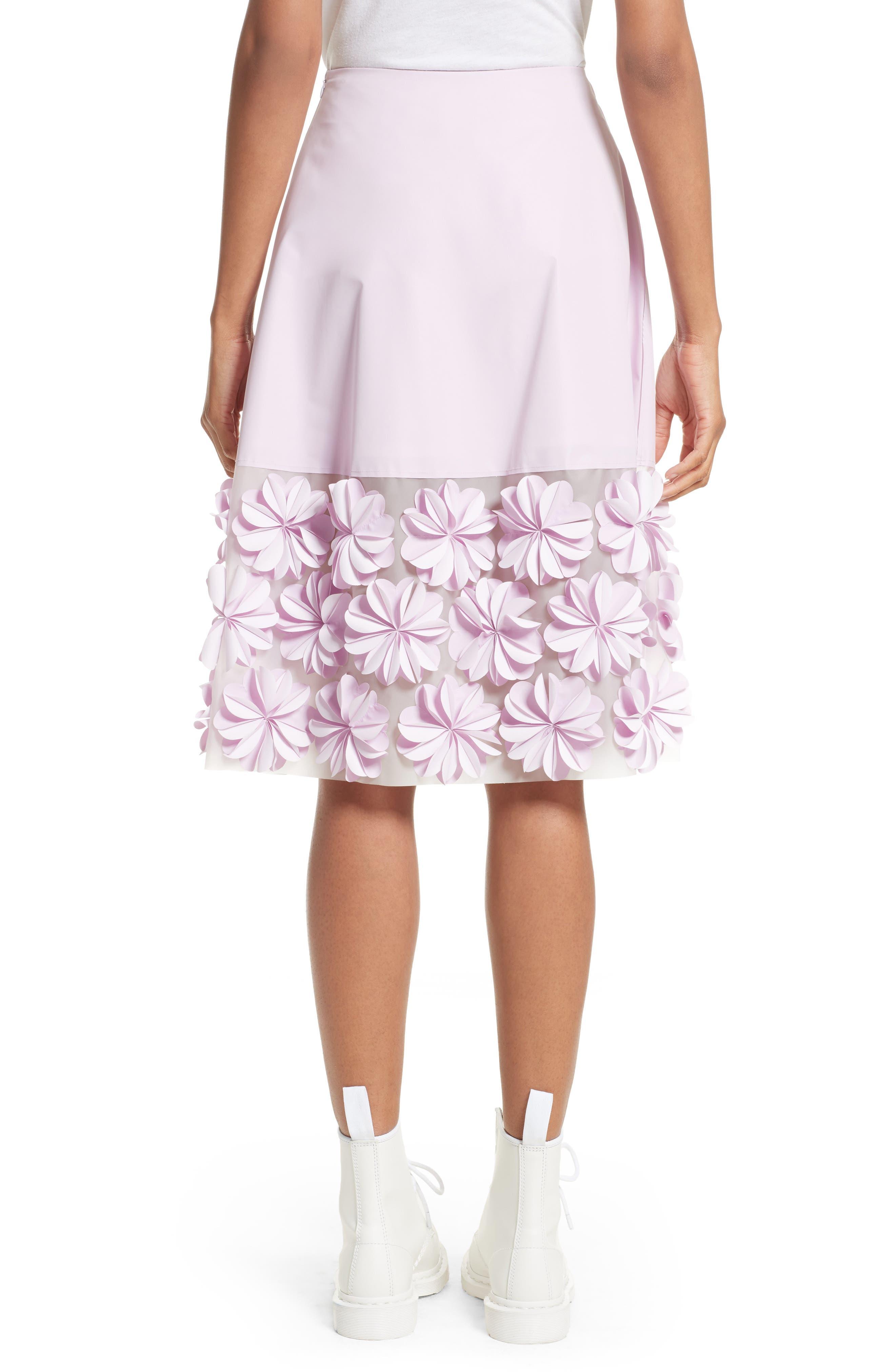 Alternate Image 2  - PASKAL Reflective Floral Appliqué Skirt