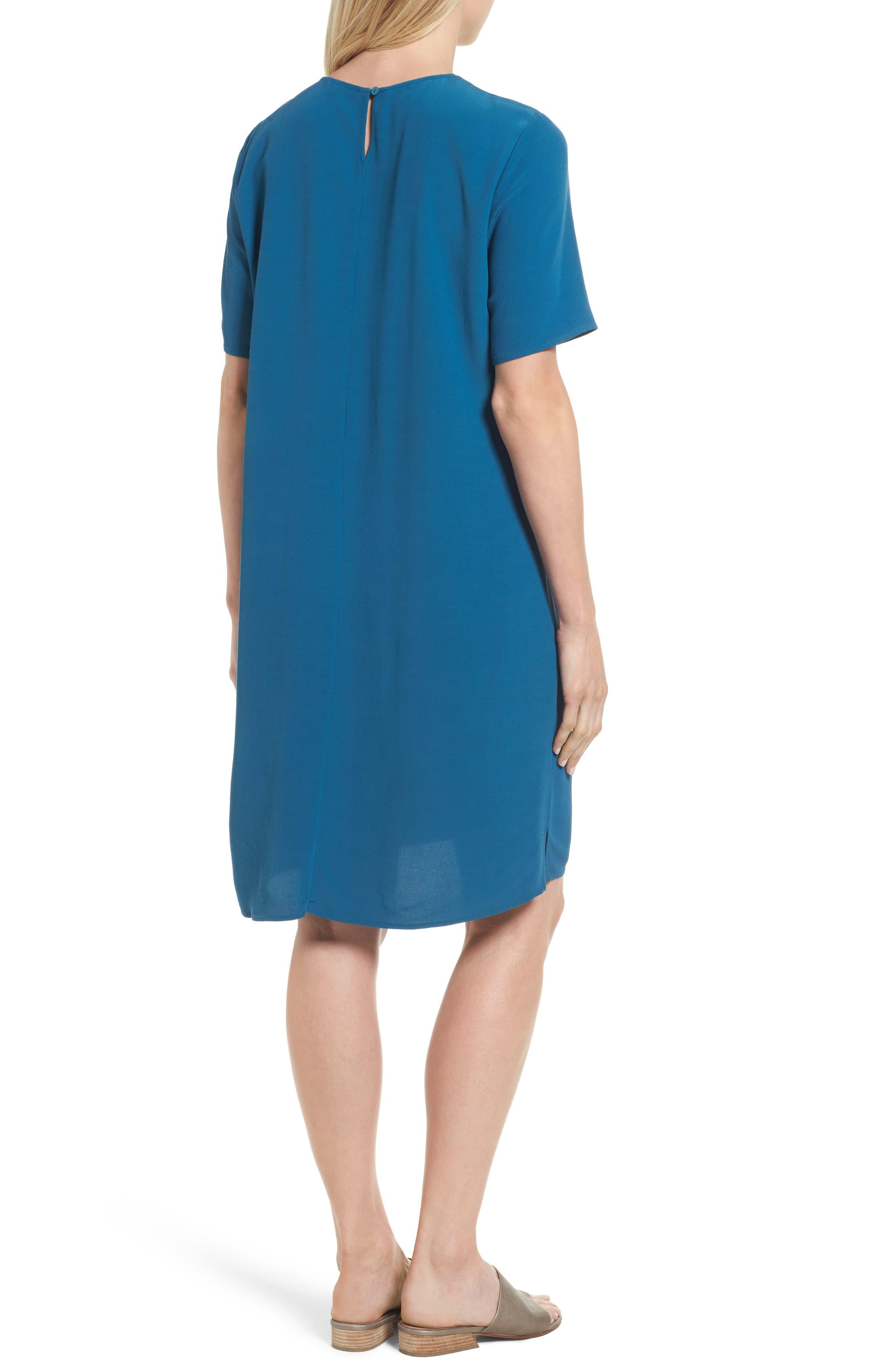 Alternate Image 3  - Eileen Fisher Tencel® Blend Jersey Shift Dress (Regular & Petite)