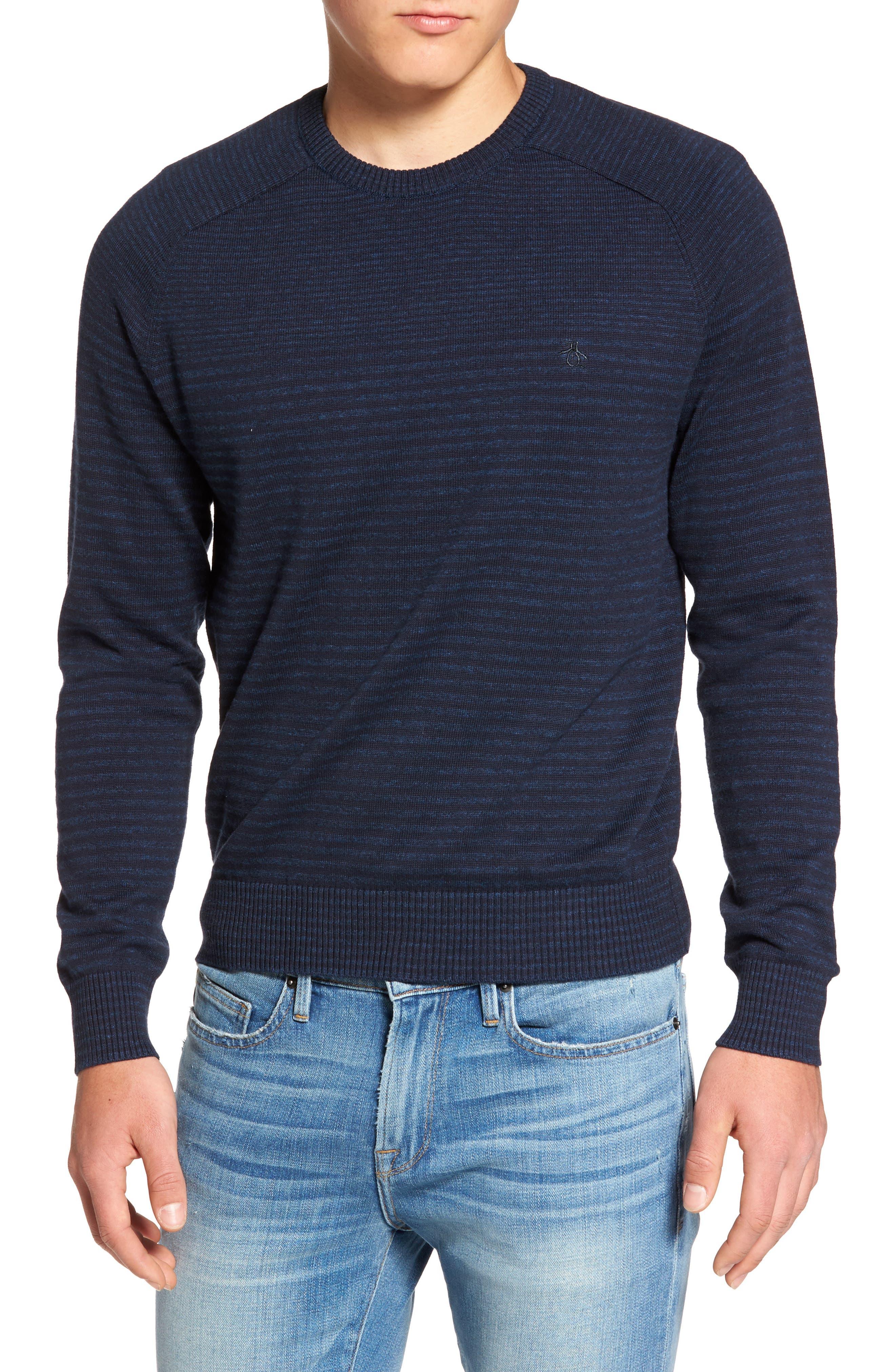 ORIGINAL PENGUIN Engineered Stripe Sweater
