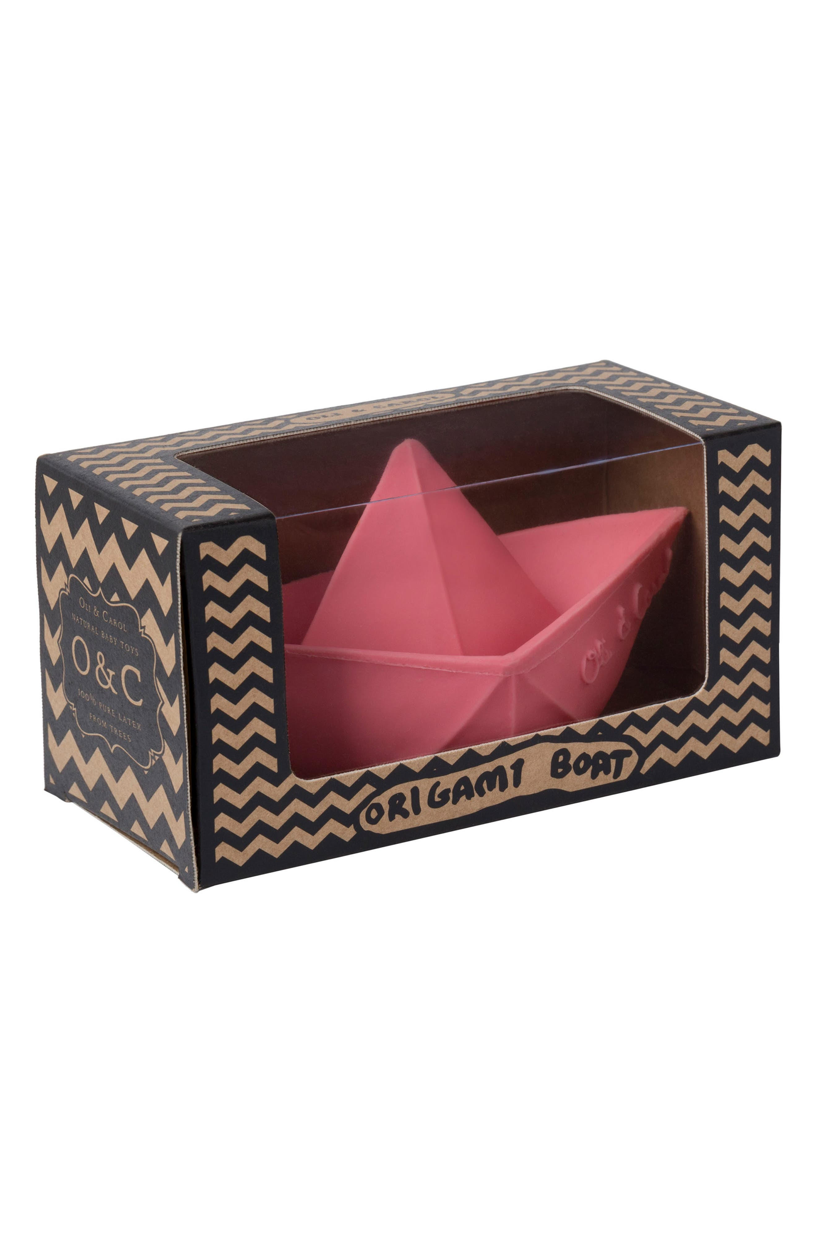 Origami Boat Bath Toy,                             Alternate thumbnail 5, color,                             Pink
