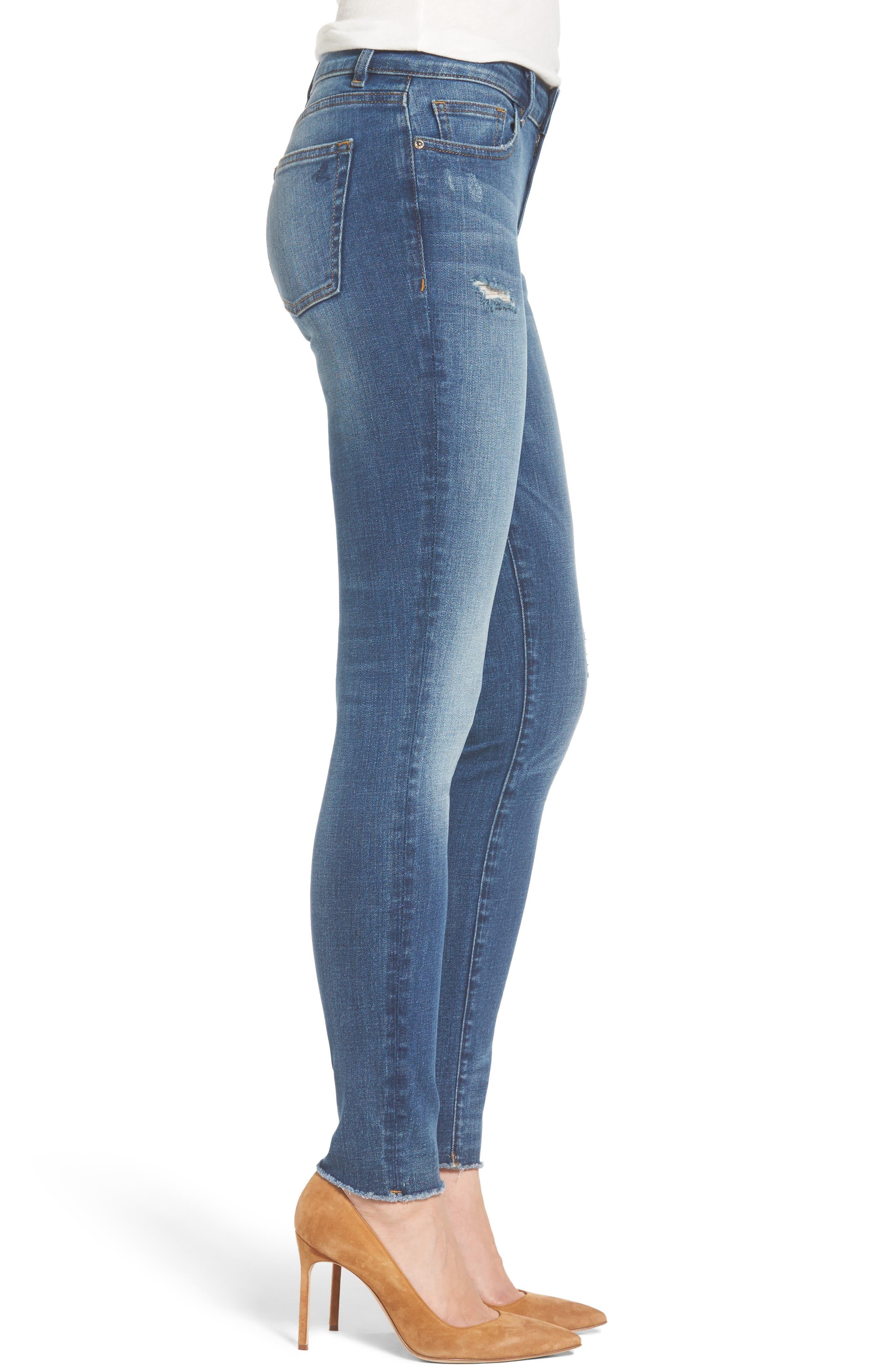 Florence Instasculpt Skinny Jeans,                             Alternate thumbnail 3, color,                             Aztec