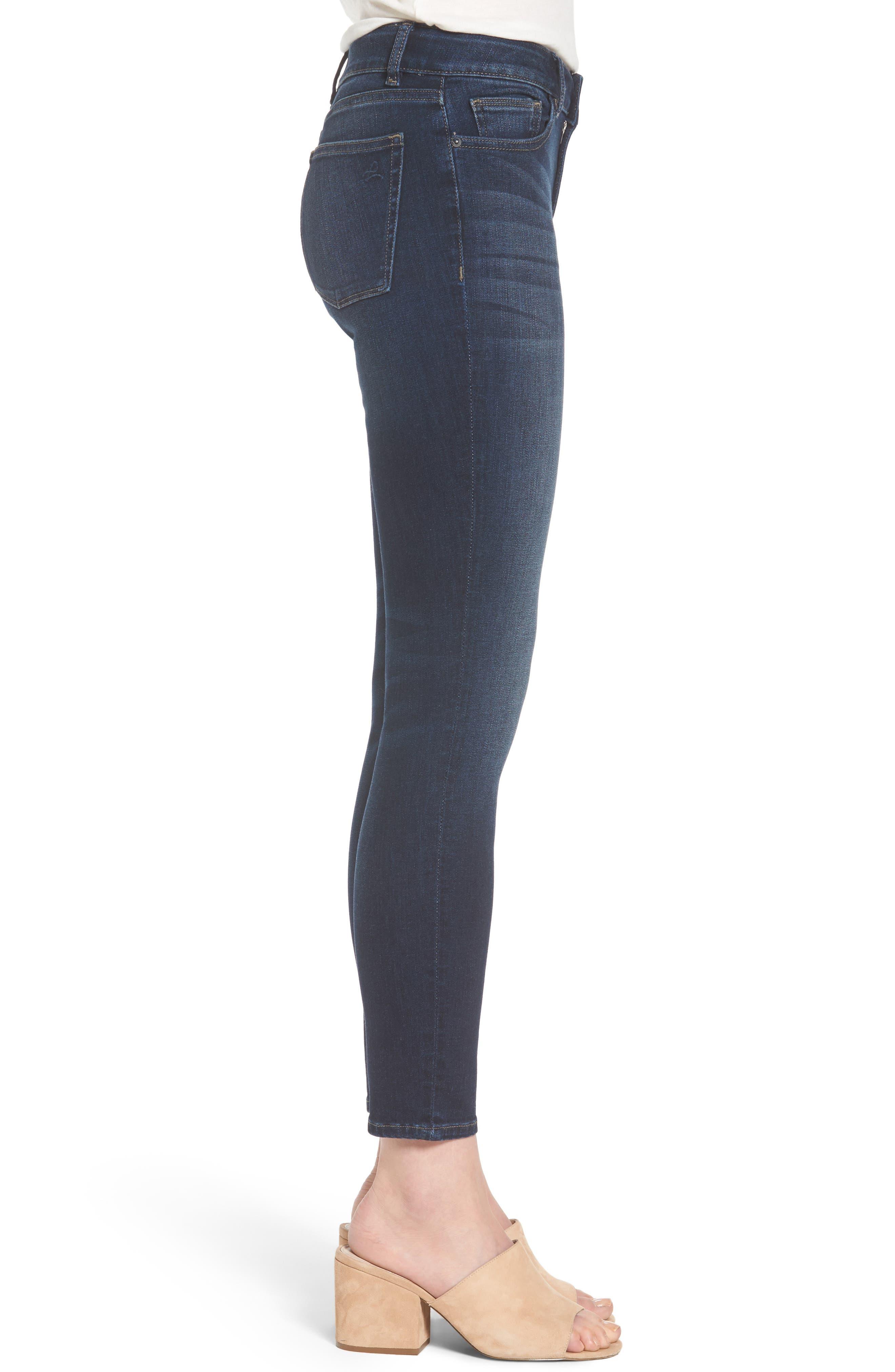 Margaux Instasculpt Ankle Skinny Jeans,                             Alternate thumbnail 3, color,                             Salt Creek