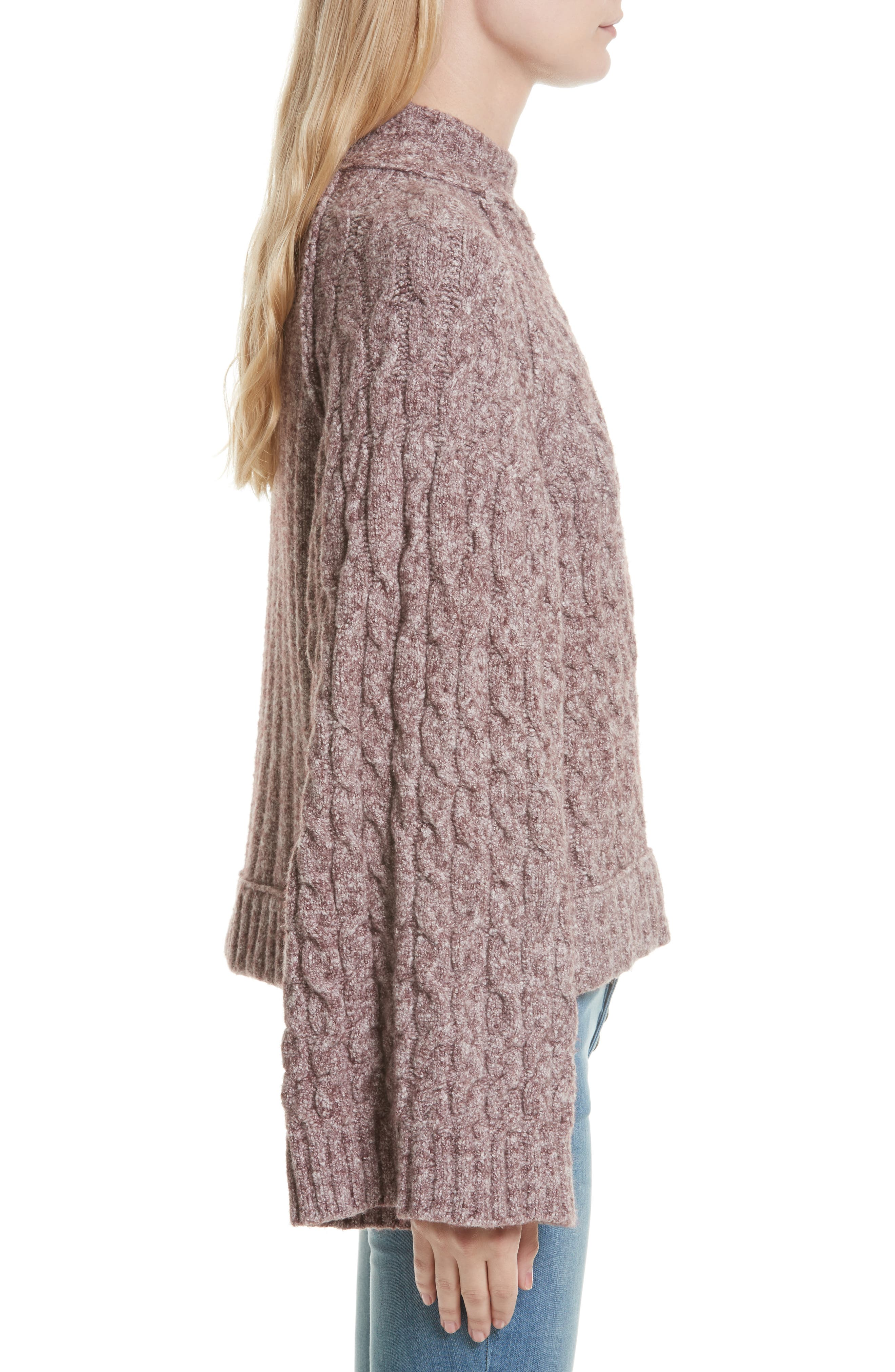 Alternate Image 3  - Free People Snow Bird Cable Knit Sweater