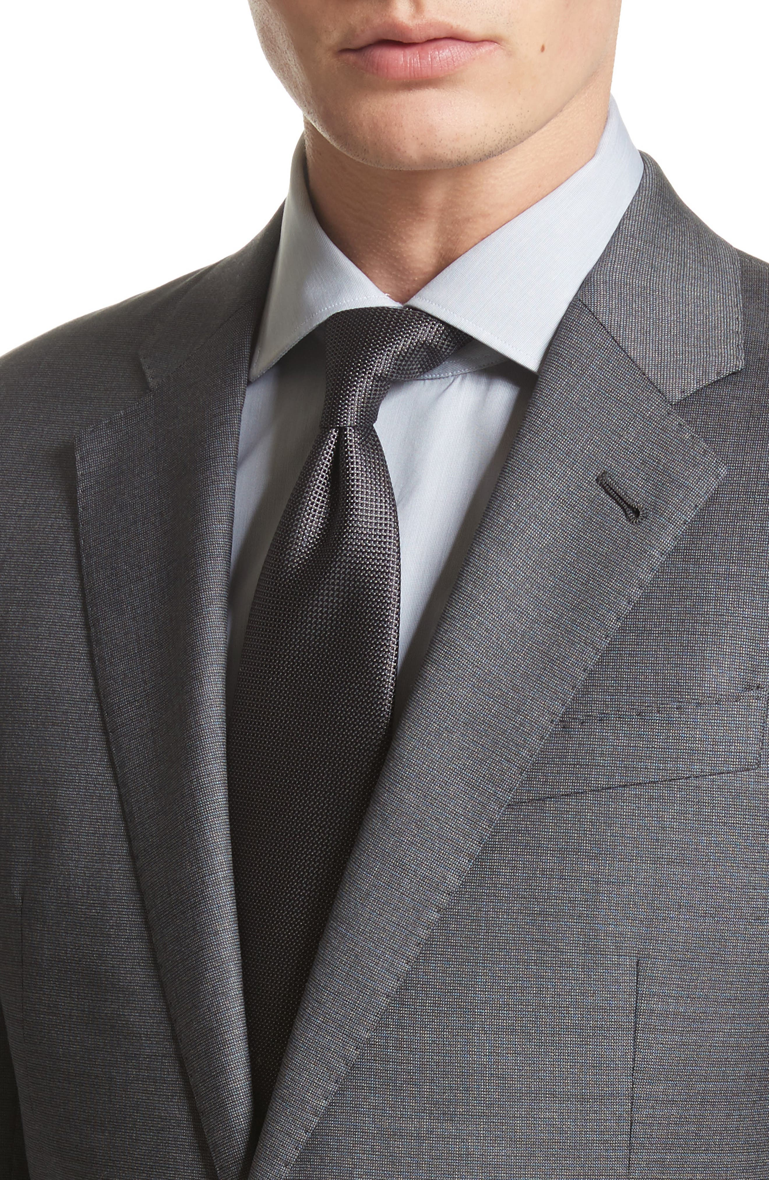 Alternate Image 5  - Armani Collezioni G-Line Trim Fit Solid Wool Suit