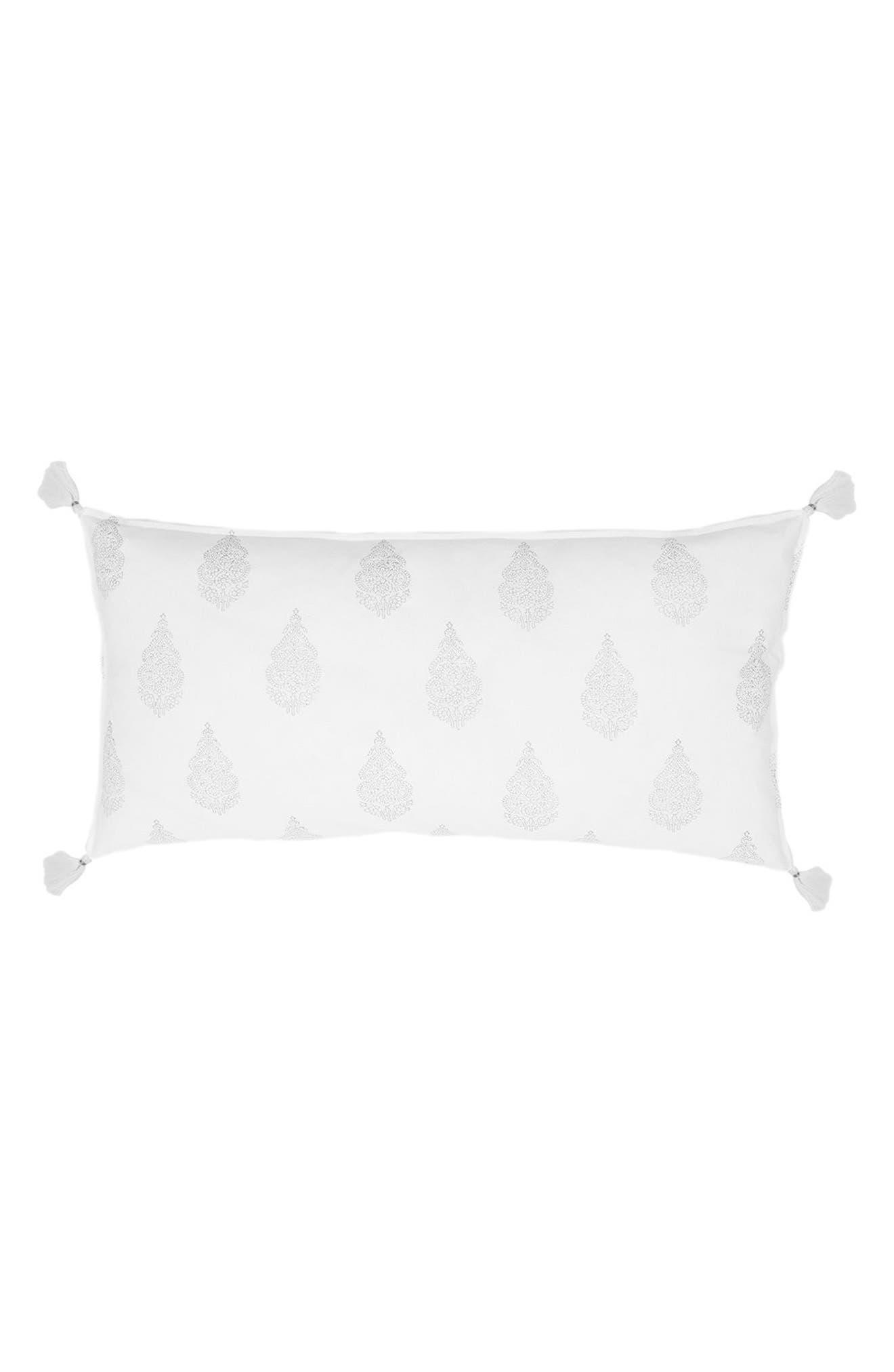 Siya Accent Pillow,                         Main,                         color, Silver