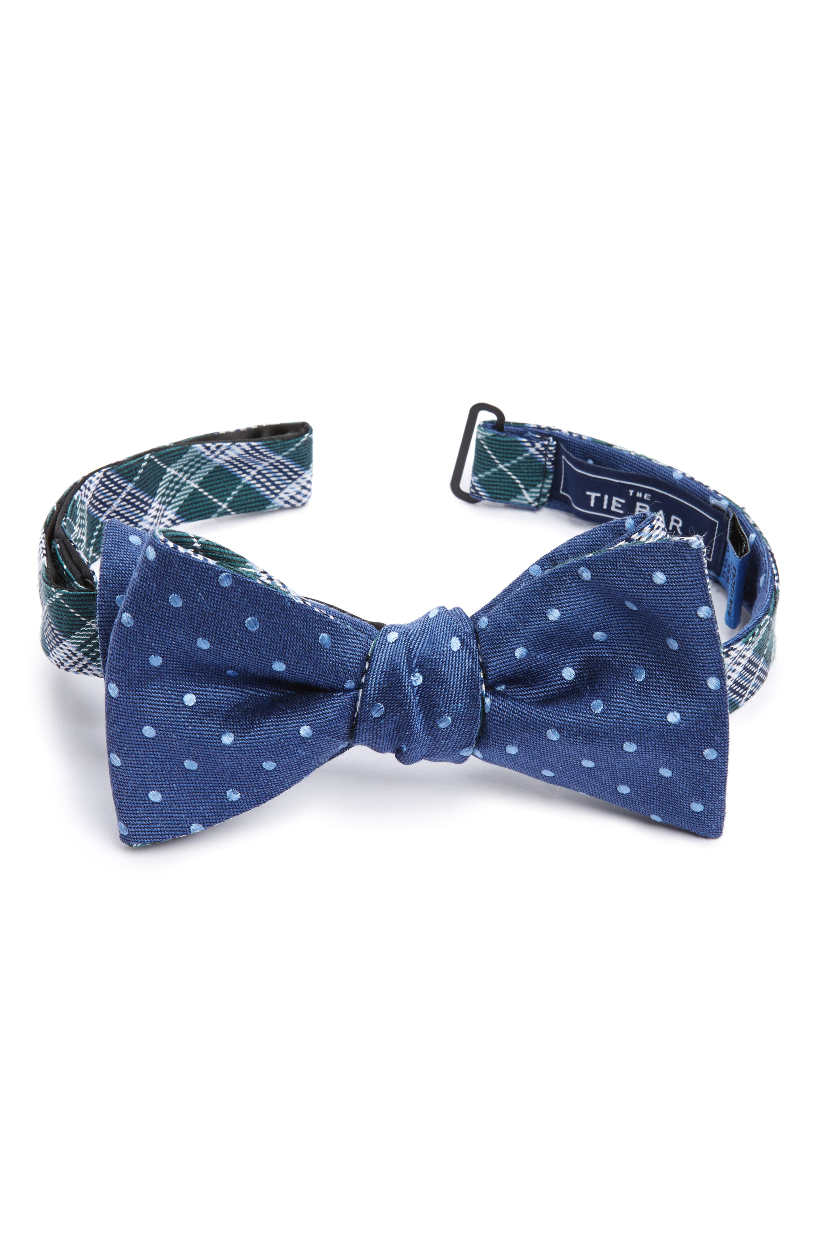 Main Image - The Tie Bar Emerson Reversible Silk Bow Tie