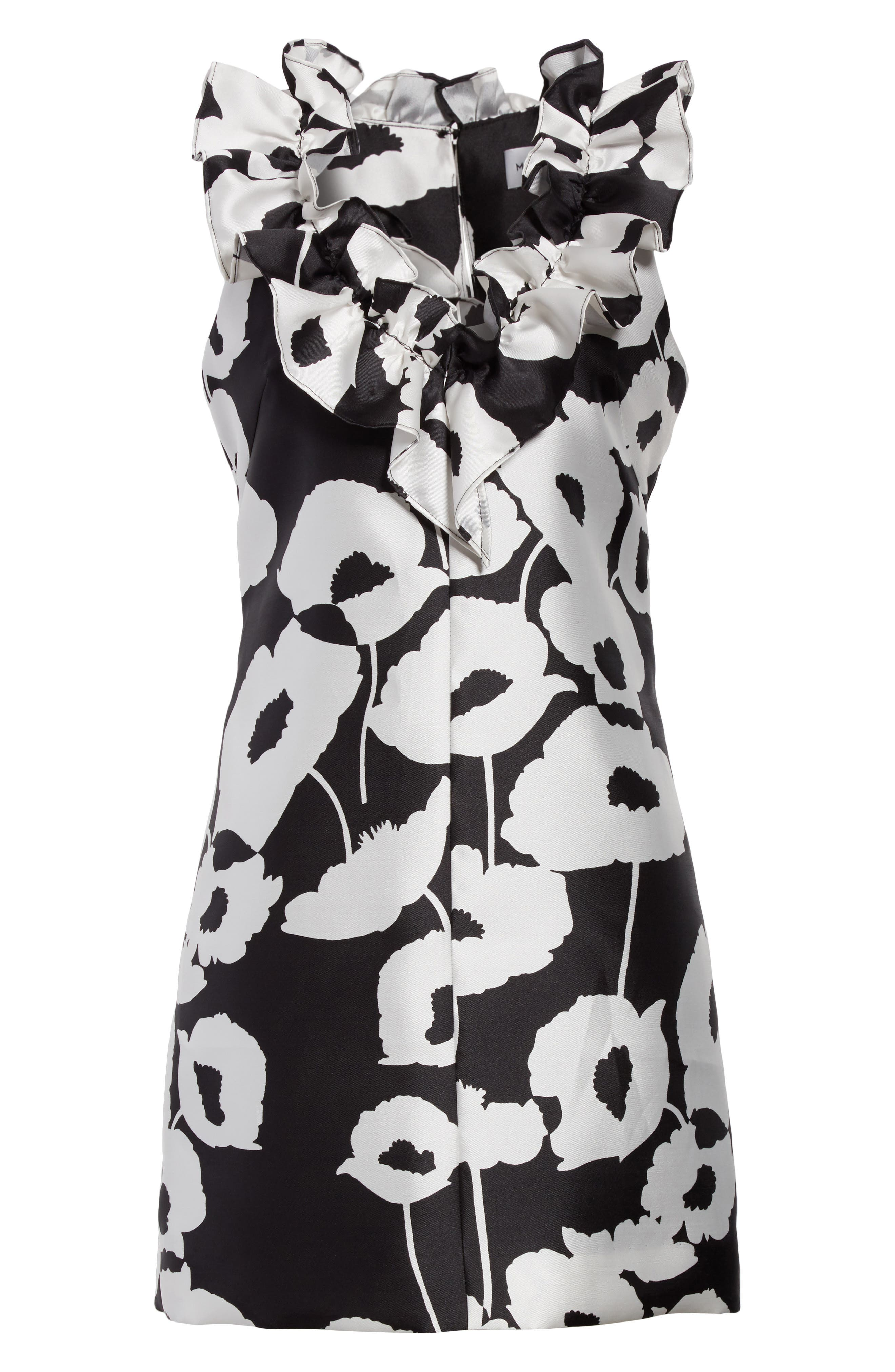 Alternate Image 6  - Milly Sadie Ruffle Poppy Print Dress