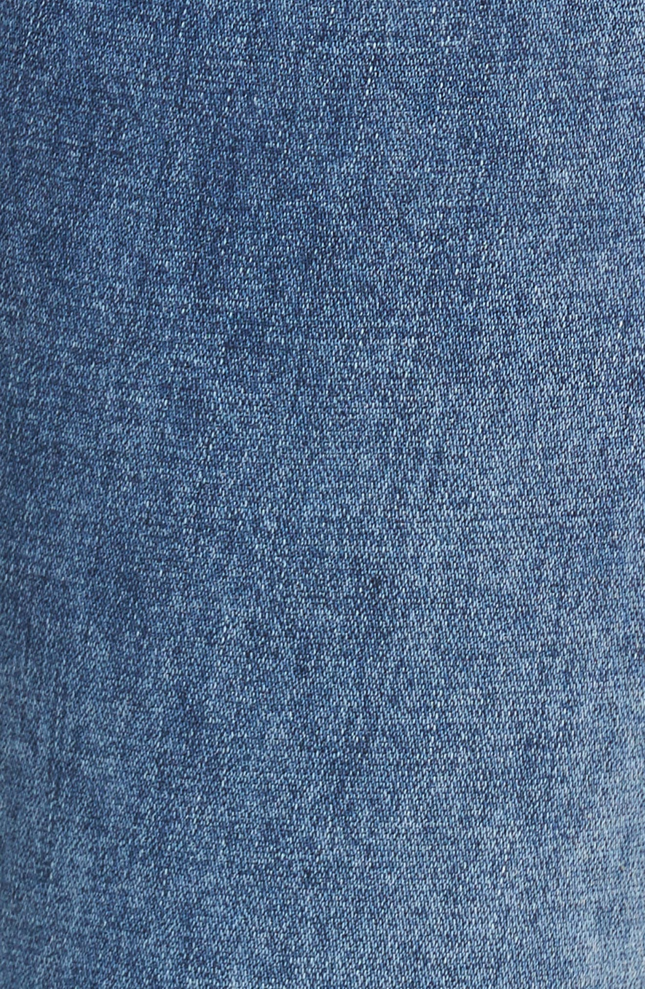 Alternate Image 5  - 7 For All Mankind® Ripped High Waist Skinny Jeans (Light Lafayette)