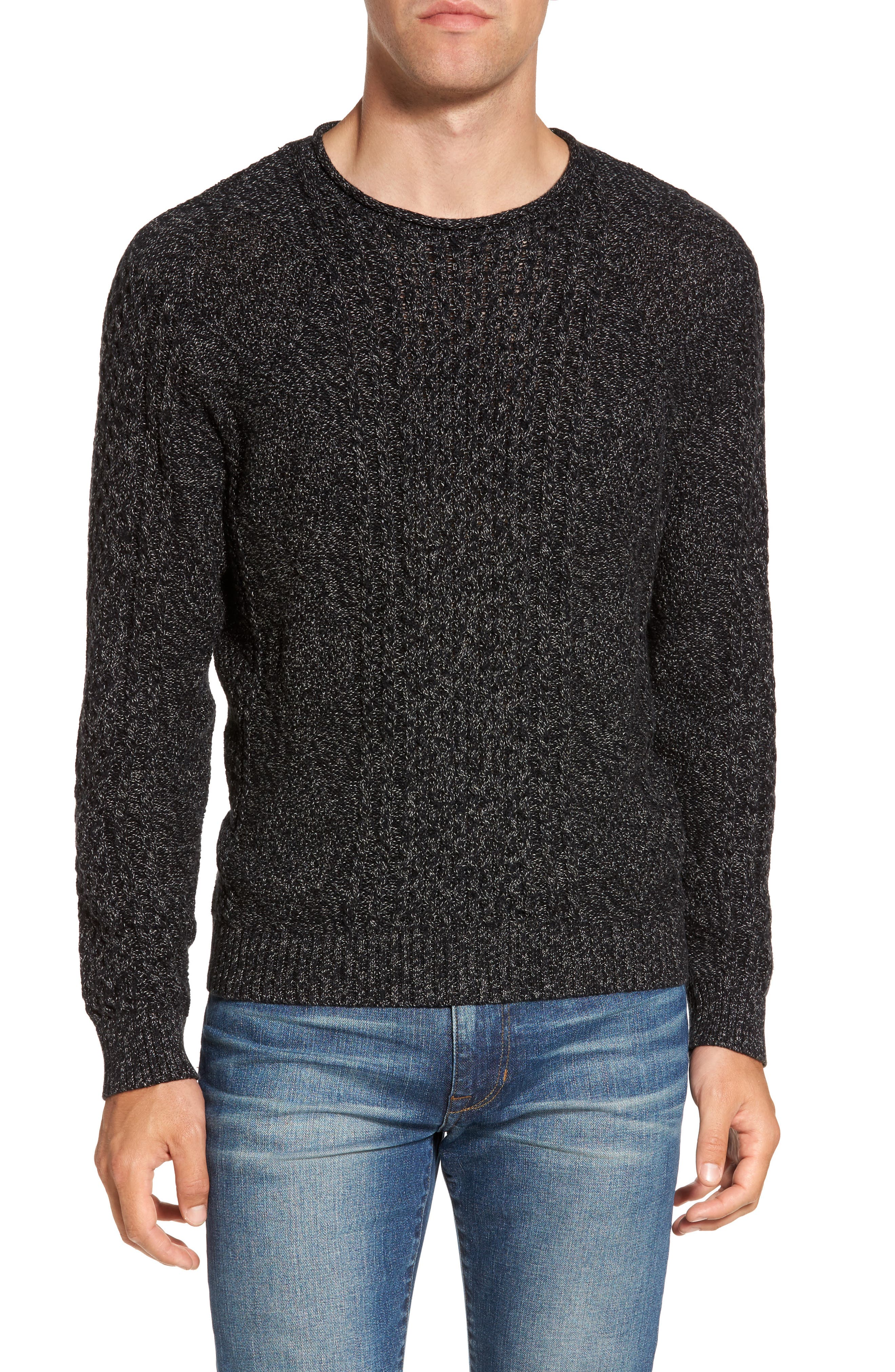 Nordstrom Men's Shop Fisherman Sweater (Tall)