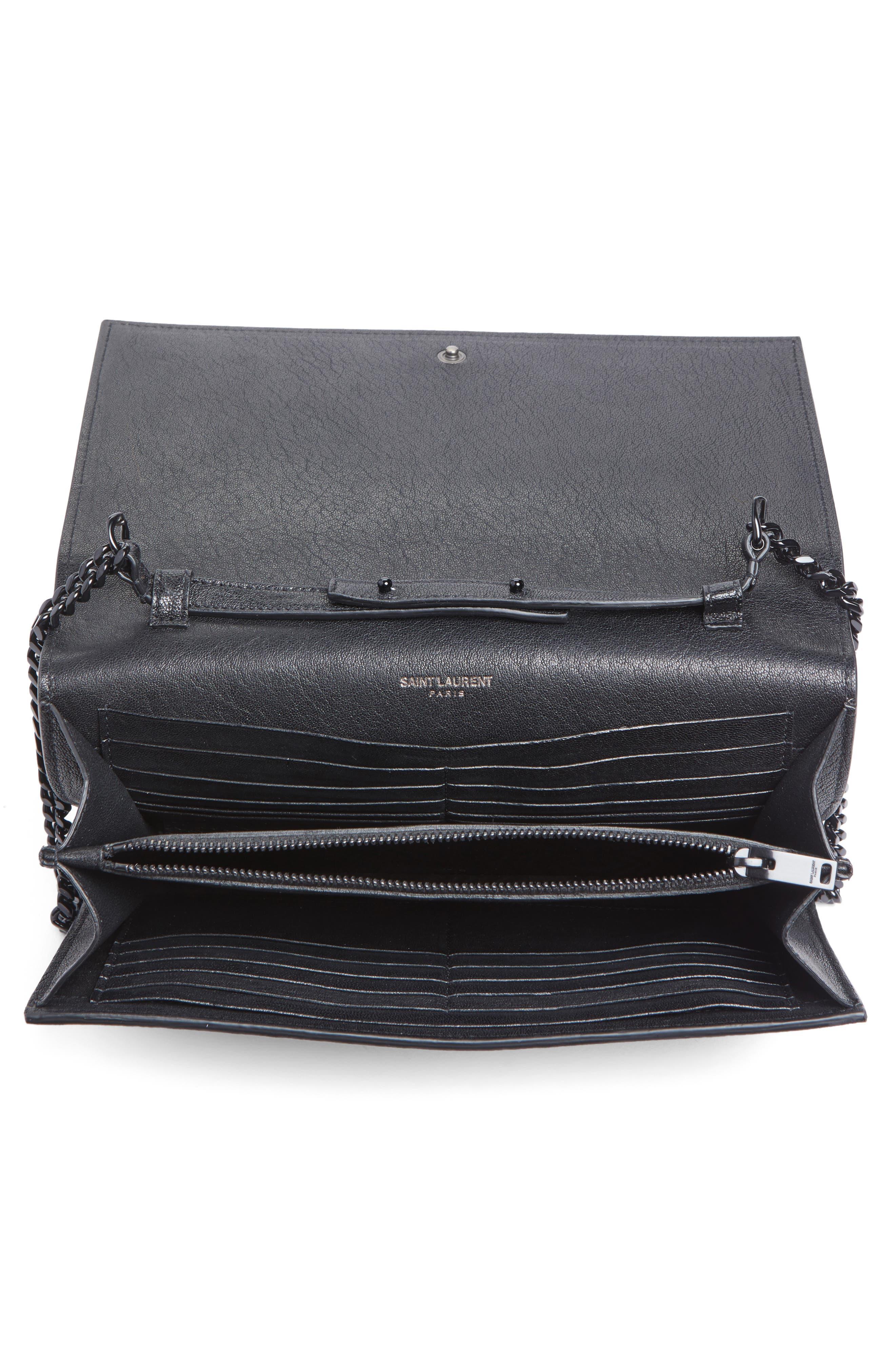 Alternate Image 4  - Saint Laurent Monogramme Patchwork Lips Leather Shoulder Bag