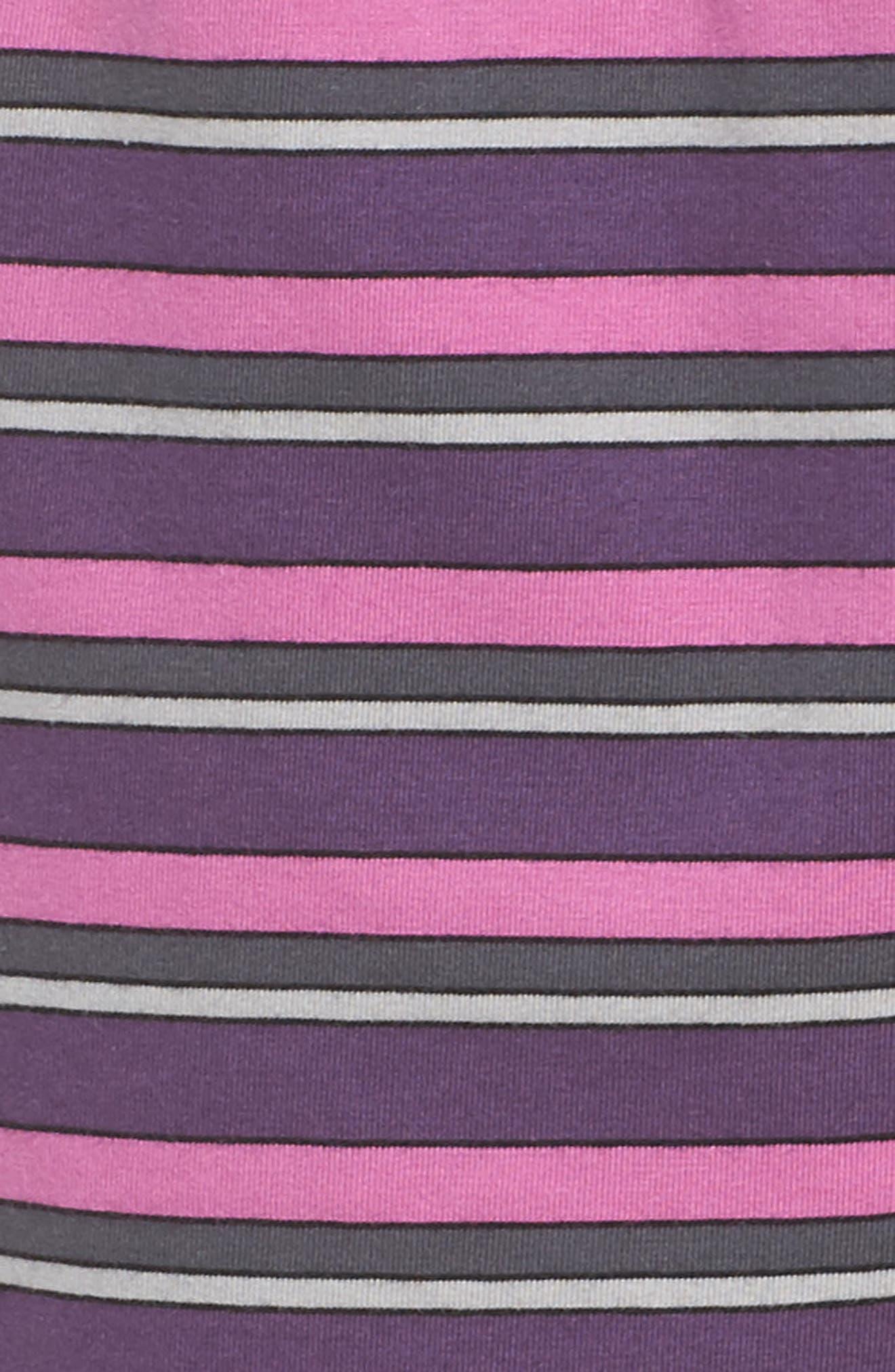 Pajama Shorts,                             Alternate thumbnail 7, color,                             Currant Stripe