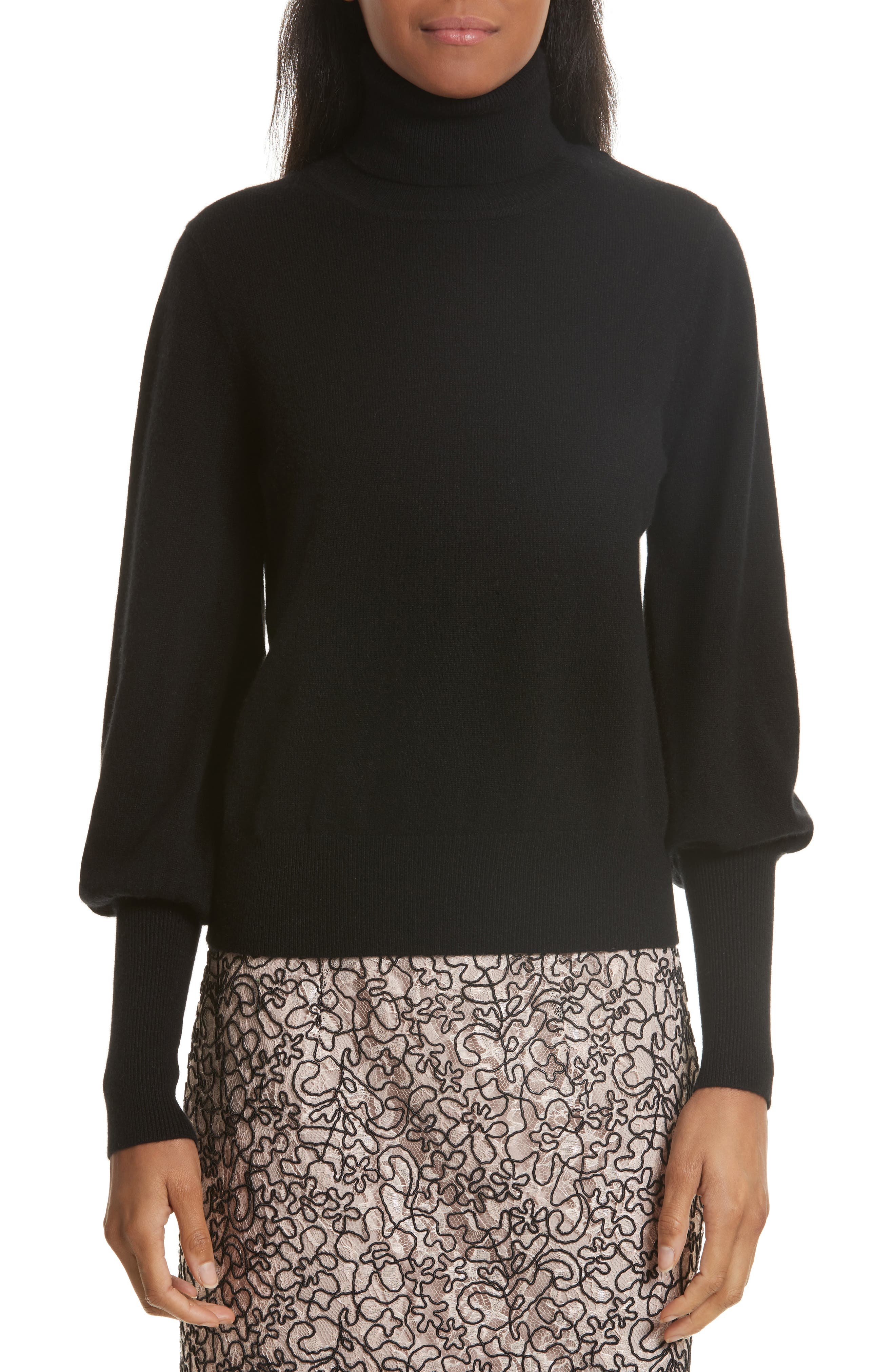 Milly Blouson Sleeve Cashmere Sweater