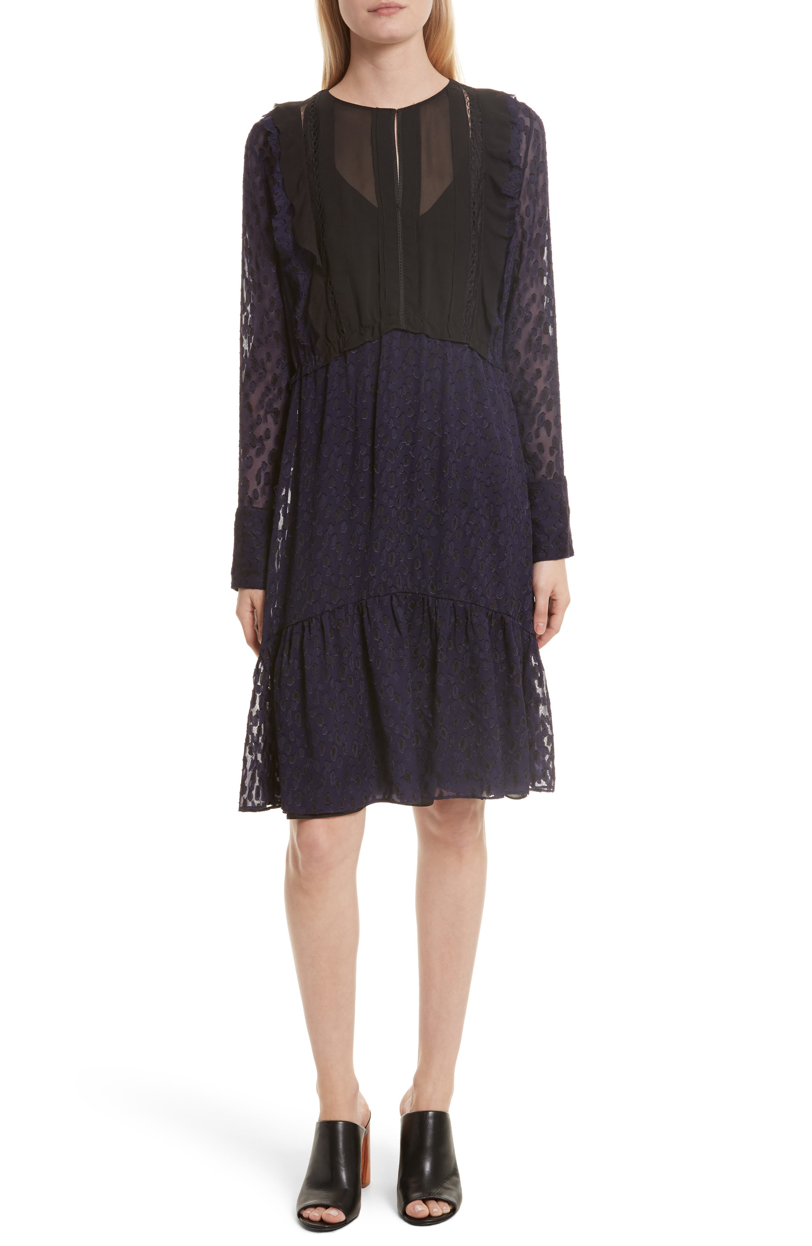 3.1 Phillip Lim Fil Coupé Silk Blend Dress