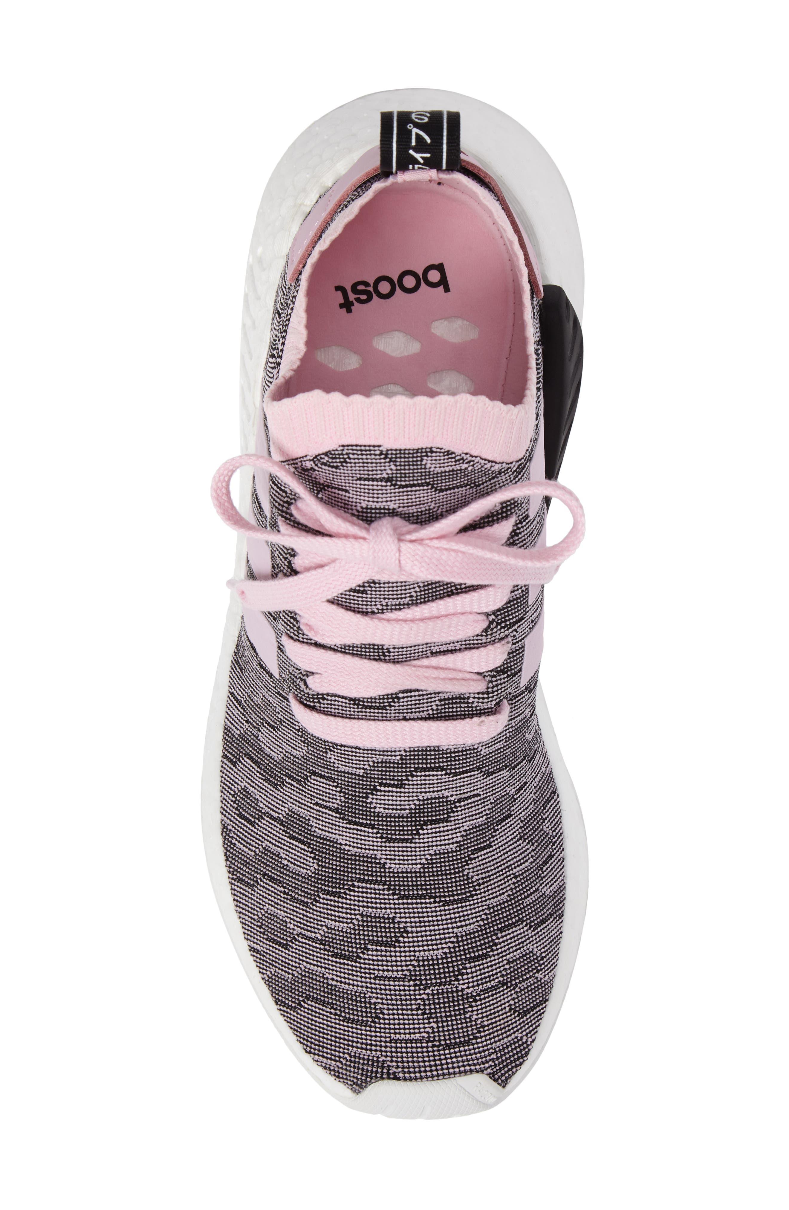 NMD R2 Primeknit Athletic Shoe,                             Alternate thumbnail 5, color,                             Wonder Pink/ Wonder Pink