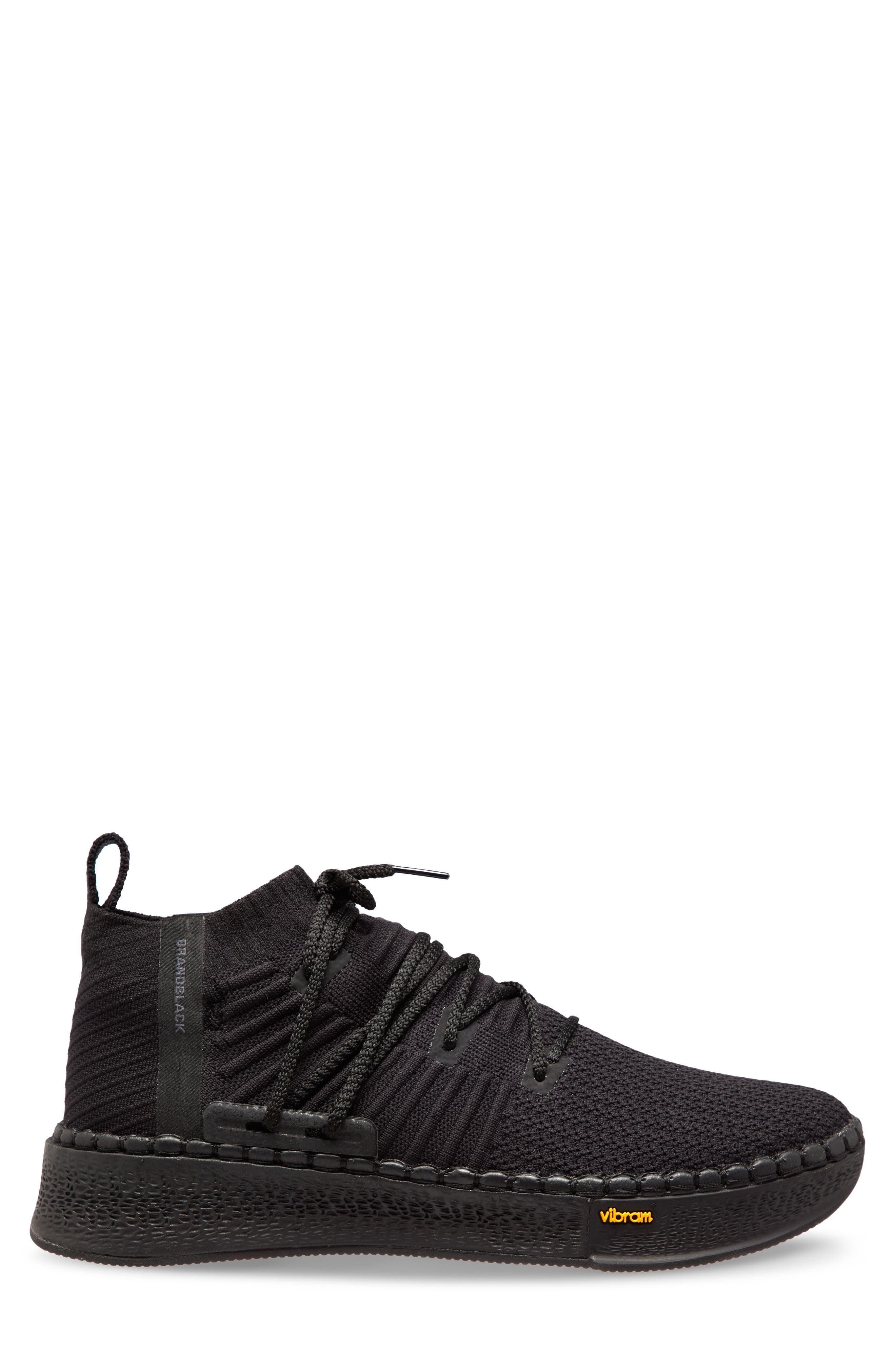 Delta Sneaker,                             Alternate thumbnail 3, color,                             Black