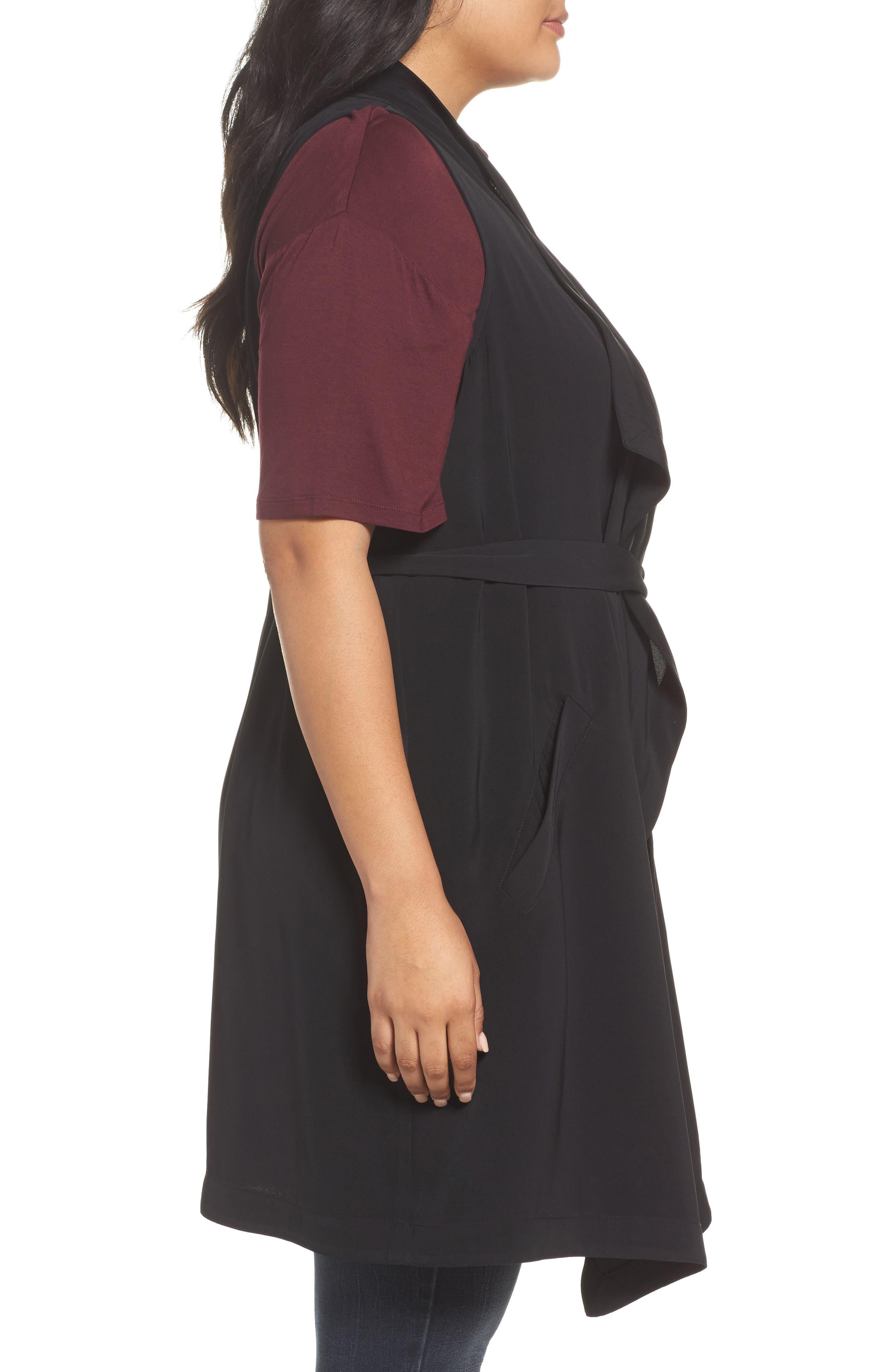 Alternate Image 3  - REBEL WILSON X ANGELS Drape Front Vest (Plus Size)