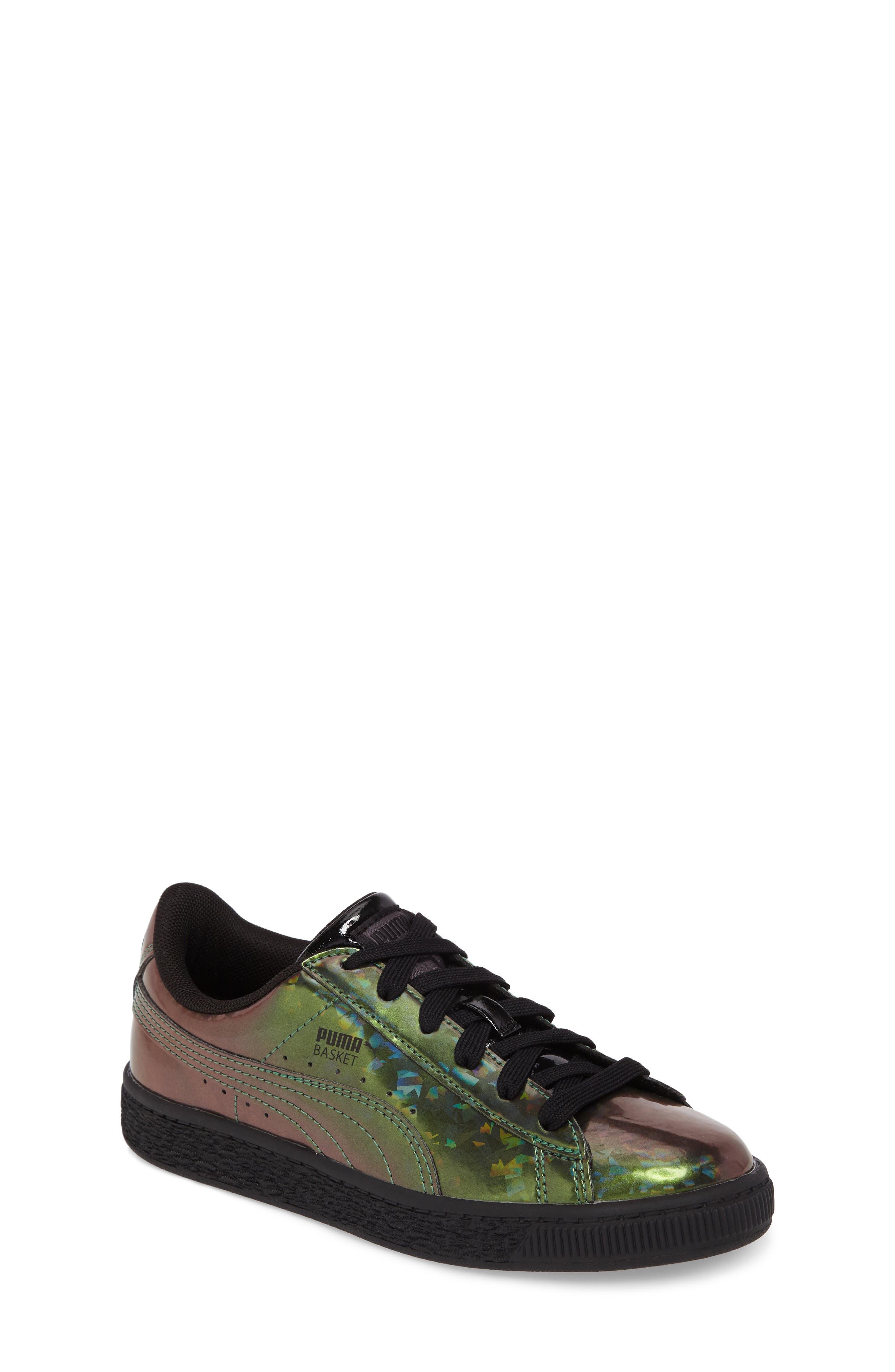 Basket Classic Holo PS Sneaker,                             Main thumbnail 1, color,                             Black/ Black