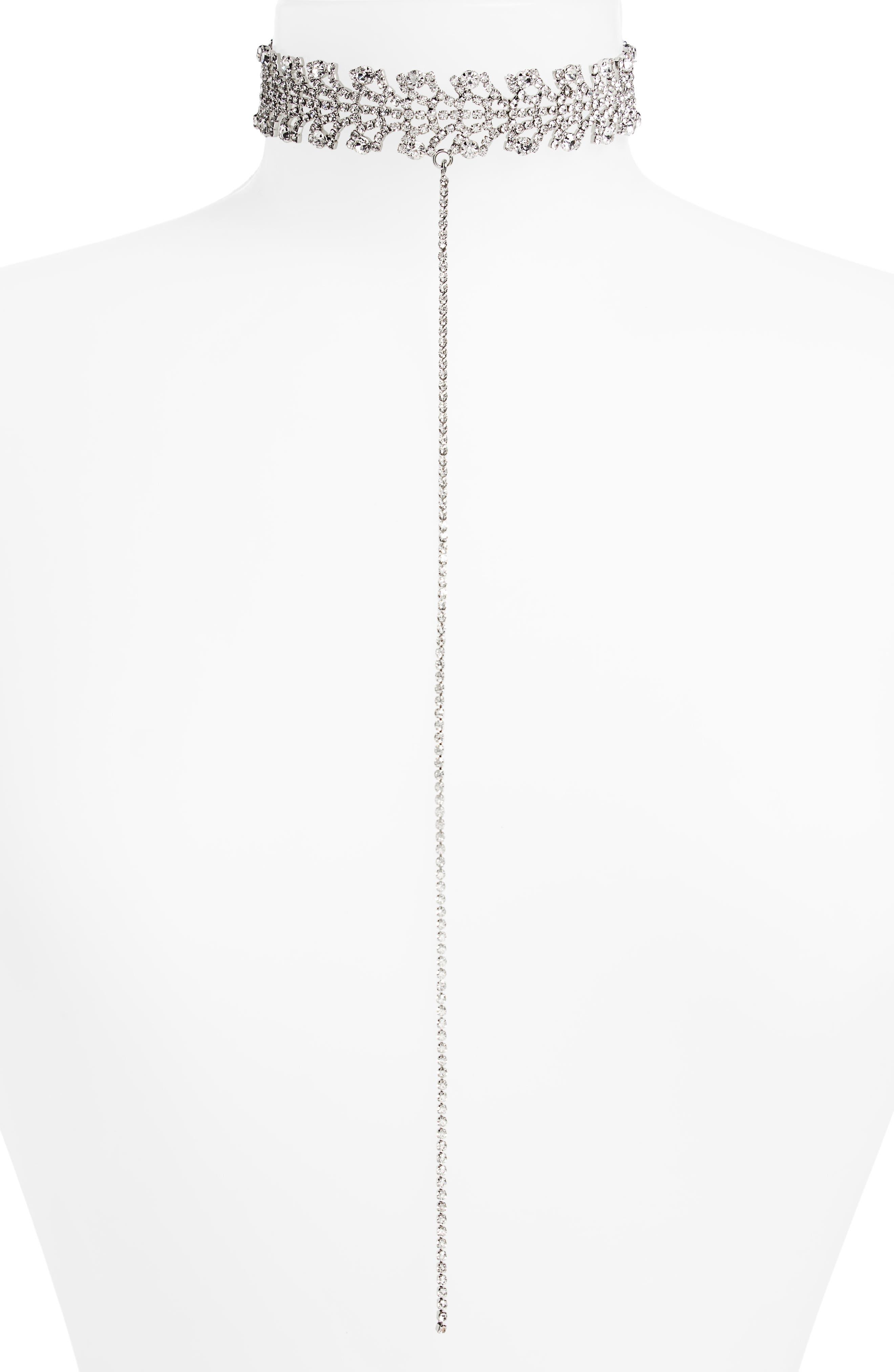 TOPSHOP Tiara Crystal Choker Necklace