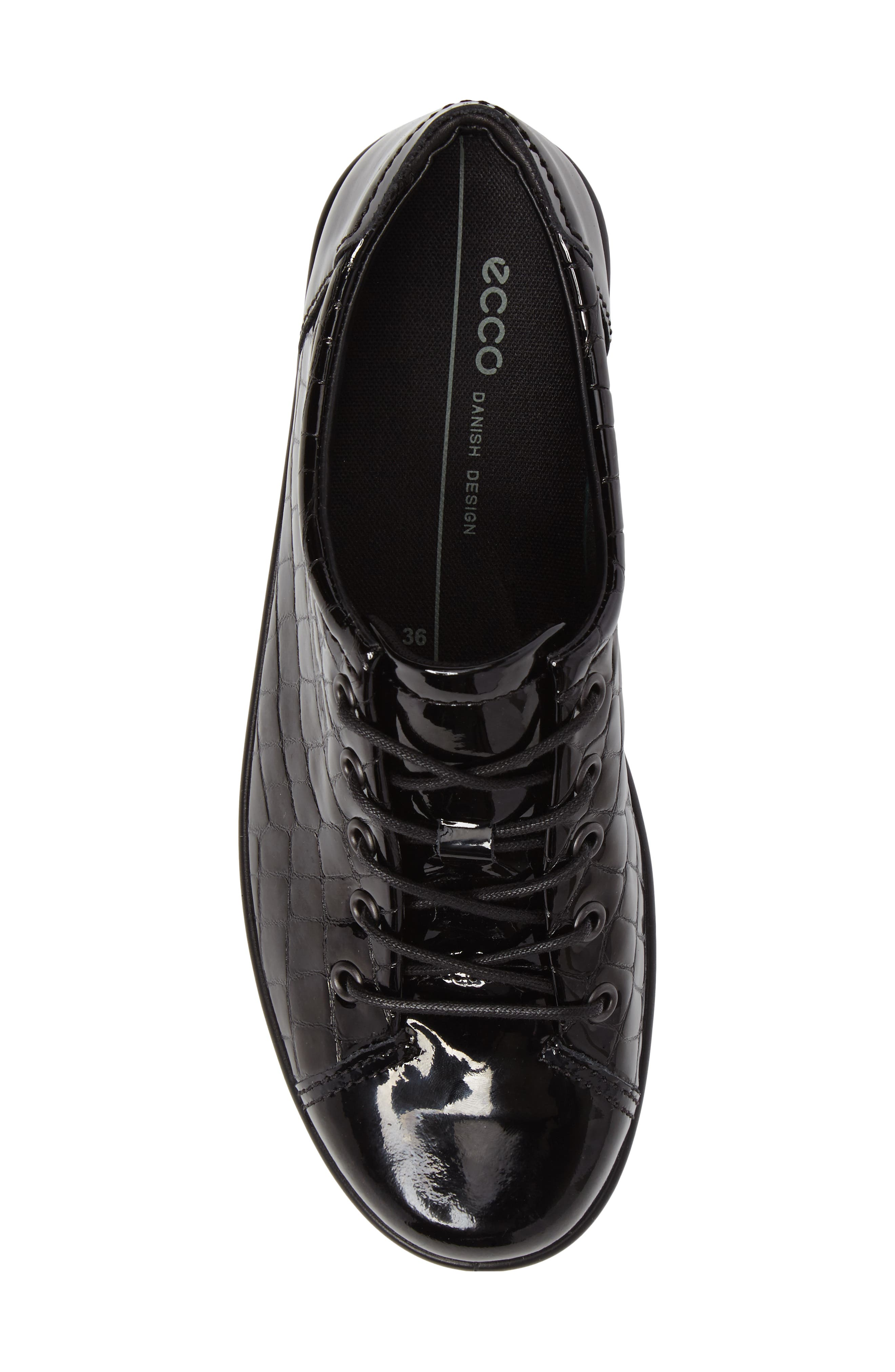 'Soft 2.0' Sneaker,                             Alternate thumbnail 5, color,                             Black Patent Leather