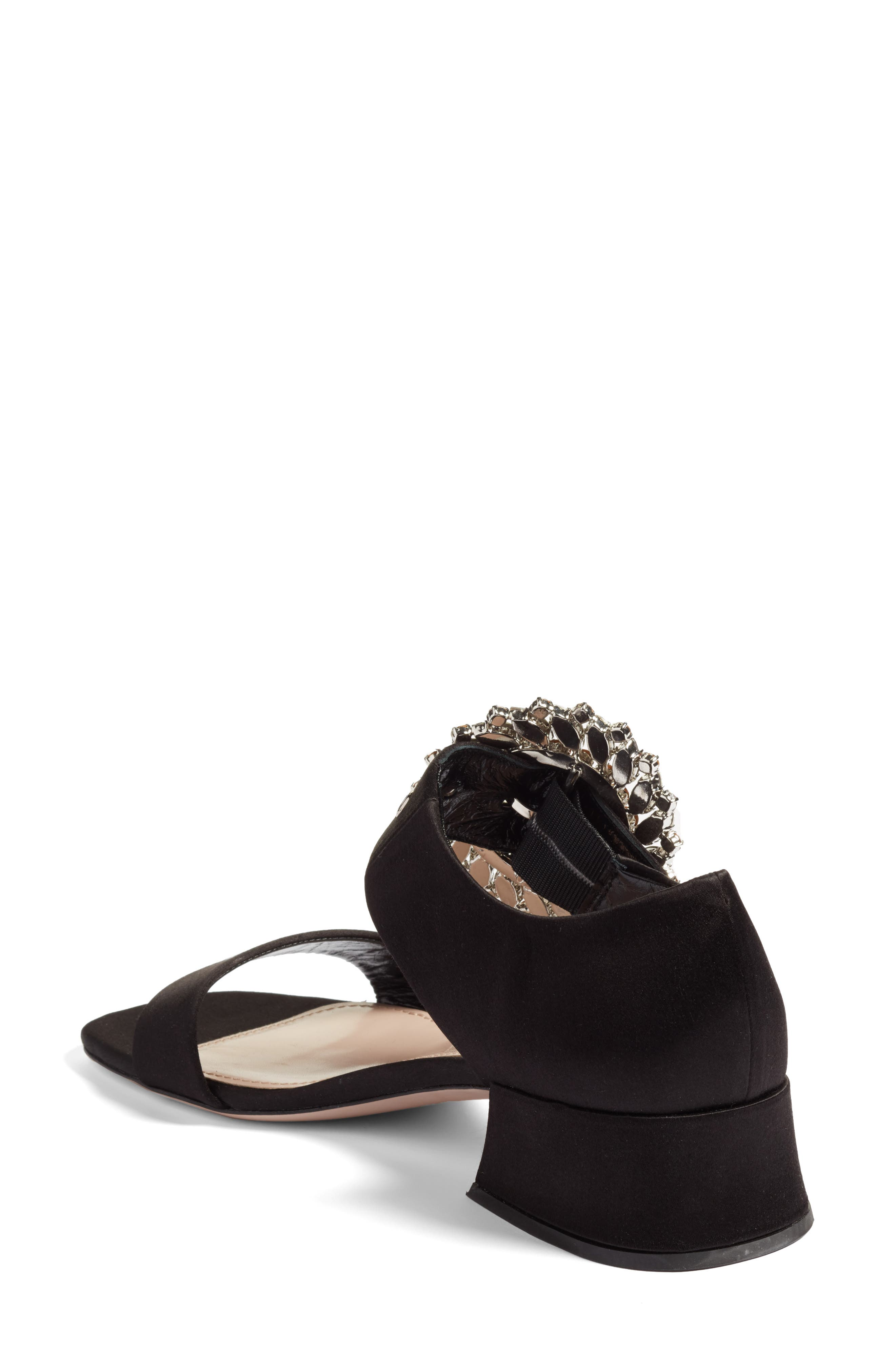 Alternate Image 2  - Miu Miu Crystal Buckle Mary Jane Sandal (Women)