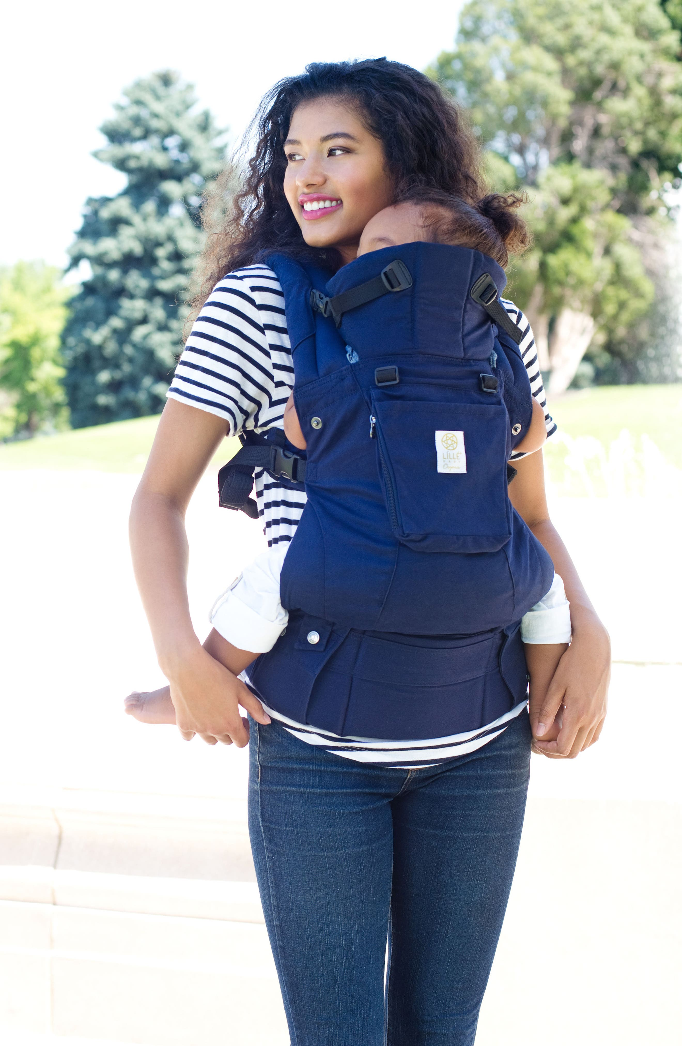 Complete 6-Position Organic Cotton Baby Carrier,                             Alternate thumbnail 2, color,                             Blue Moonlight
