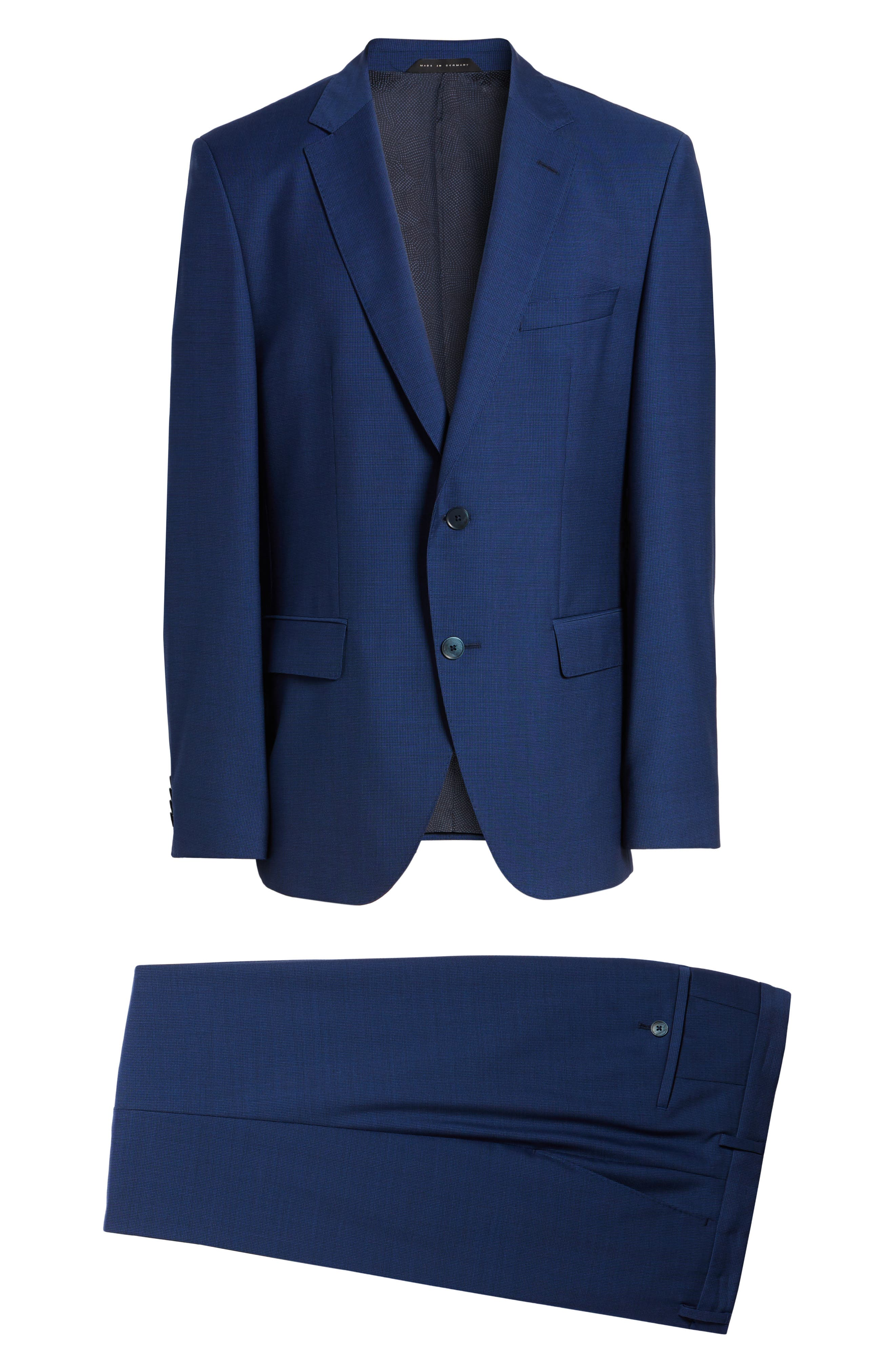 Alternate Image 8  - BOSS Trim Fit Solid Wool Suit
