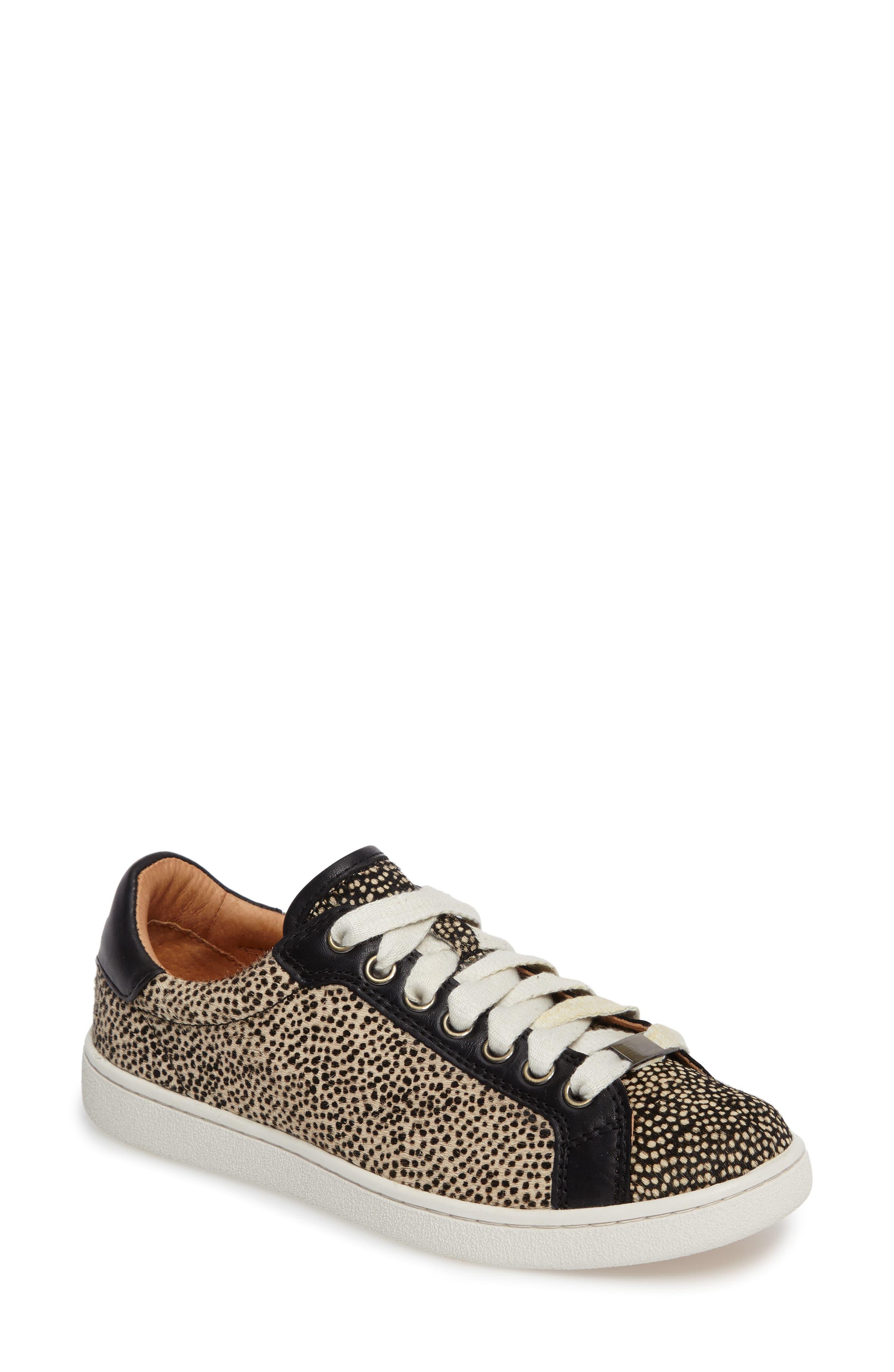 Alternate Image 1 Selected - UGG® Milo Genuine Calf Hair Sneaker (Women)