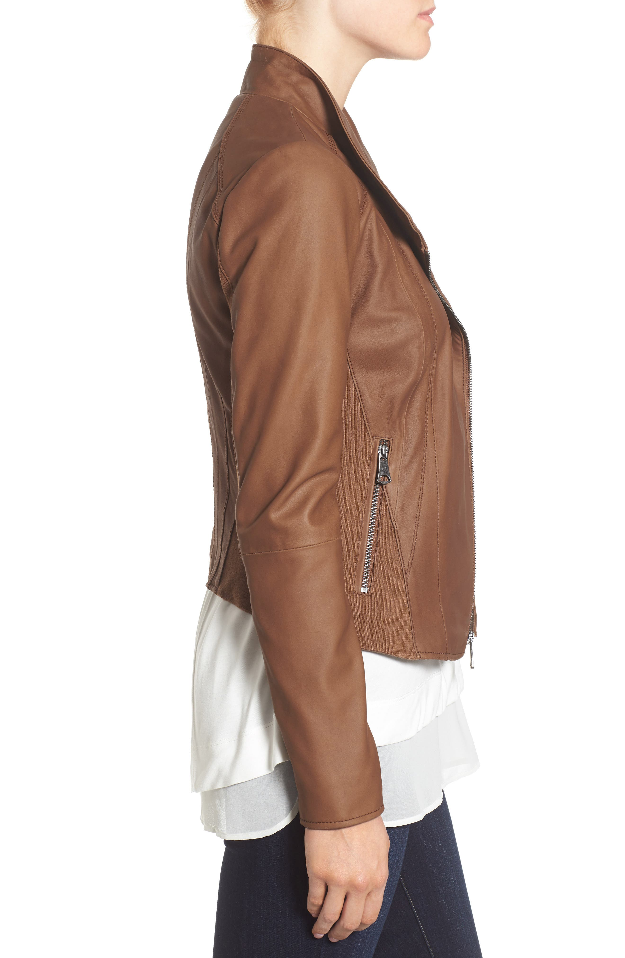 Alternate Image 5  - Marc New York by Andrew Marc 'Felix' Stand Collar Leather Jacket