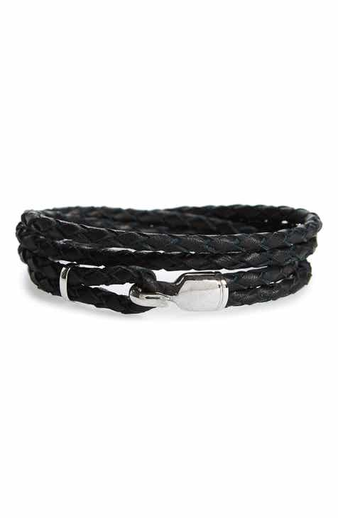 Miansai Trice Braided Leather Sterling Silver Bracelet