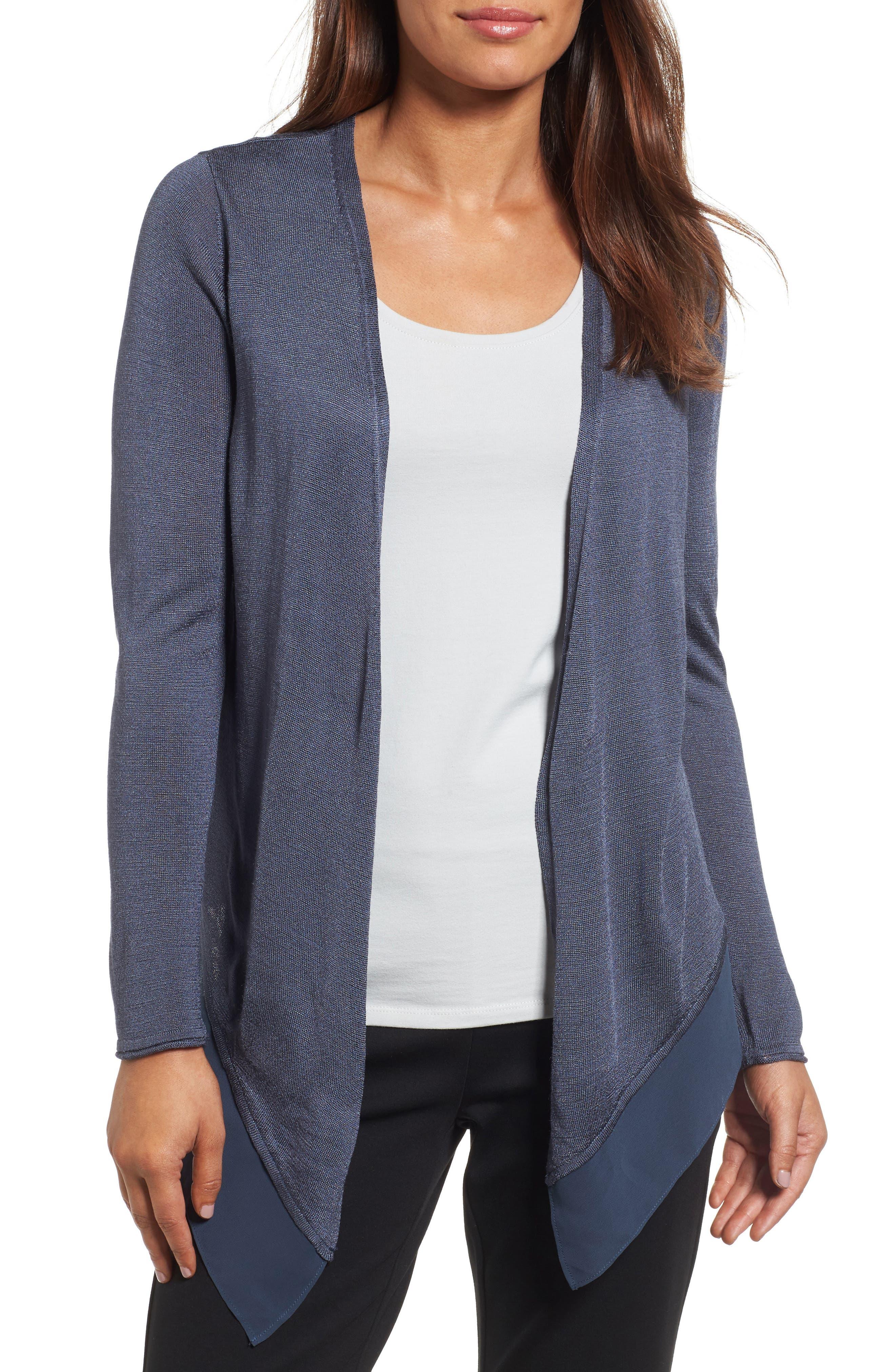 Main Image - NIC+ZOE Paired Up Silk Blend Cardigan (Regular & Petite)