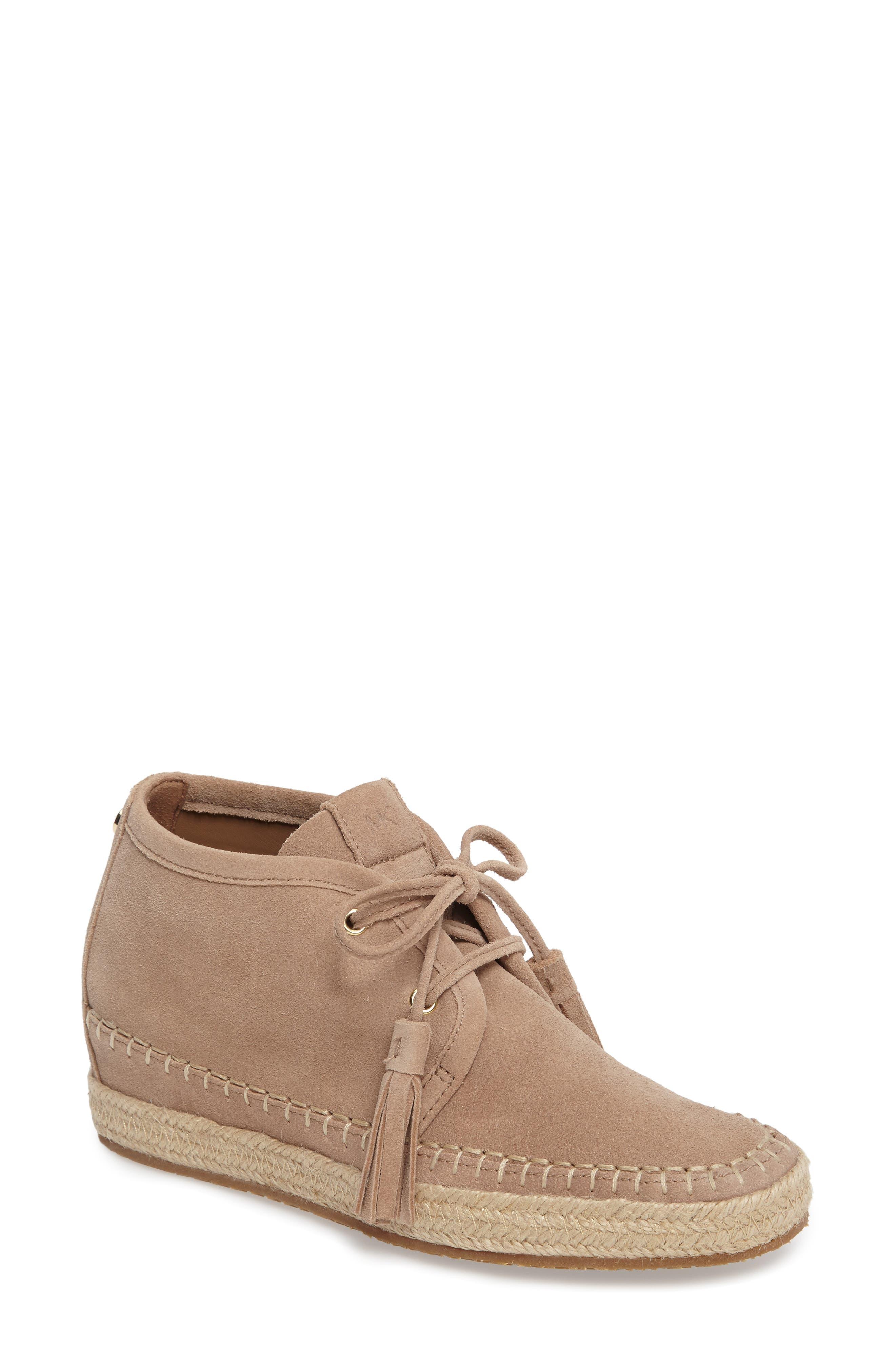 Kendrick Wedge Sneaker,                         Main,                         color, Dark Khaki