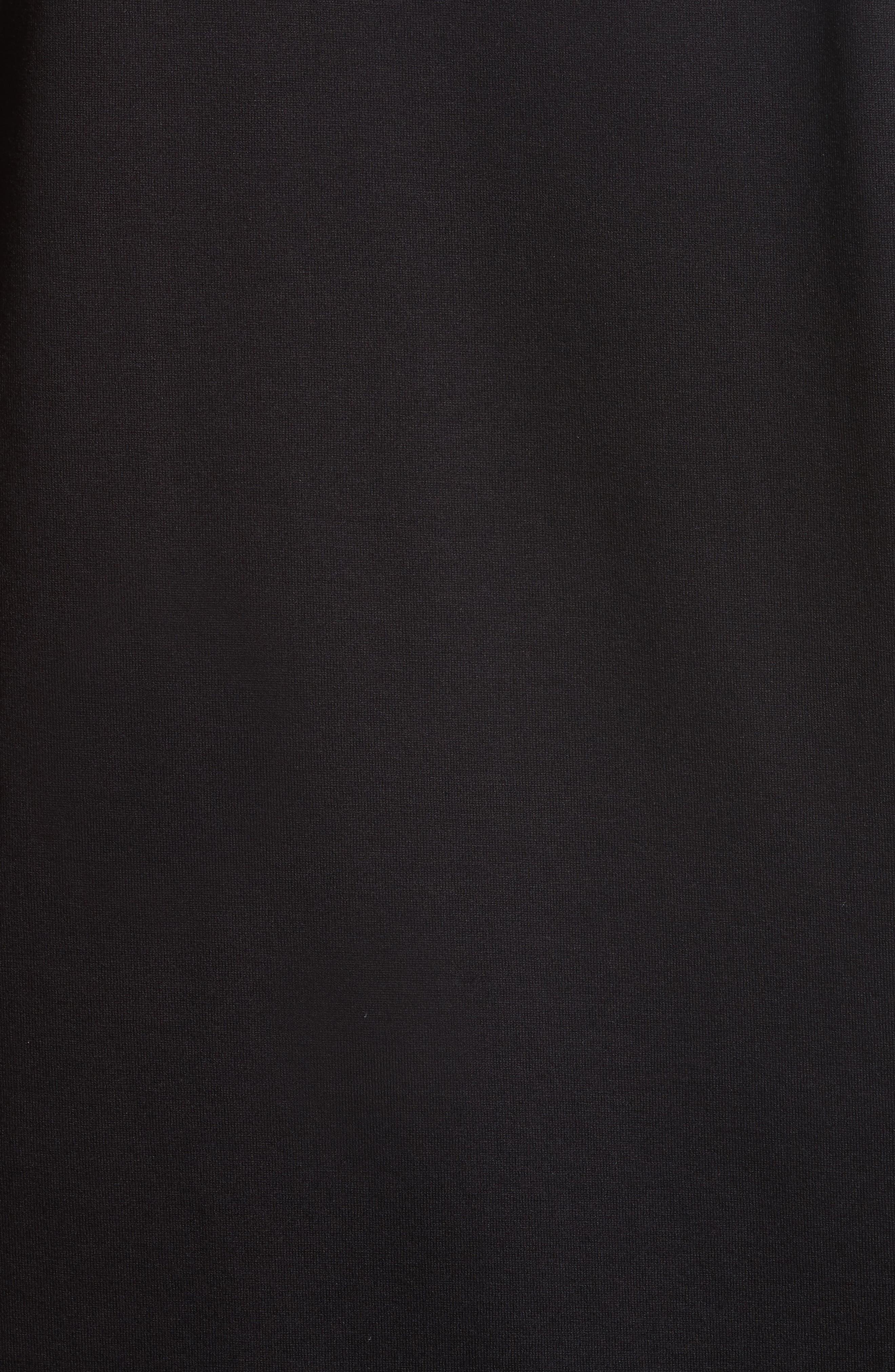 Cuban Fit Shark Print T-Shirt,                             Alternate thumbnail 5, color,                             Black