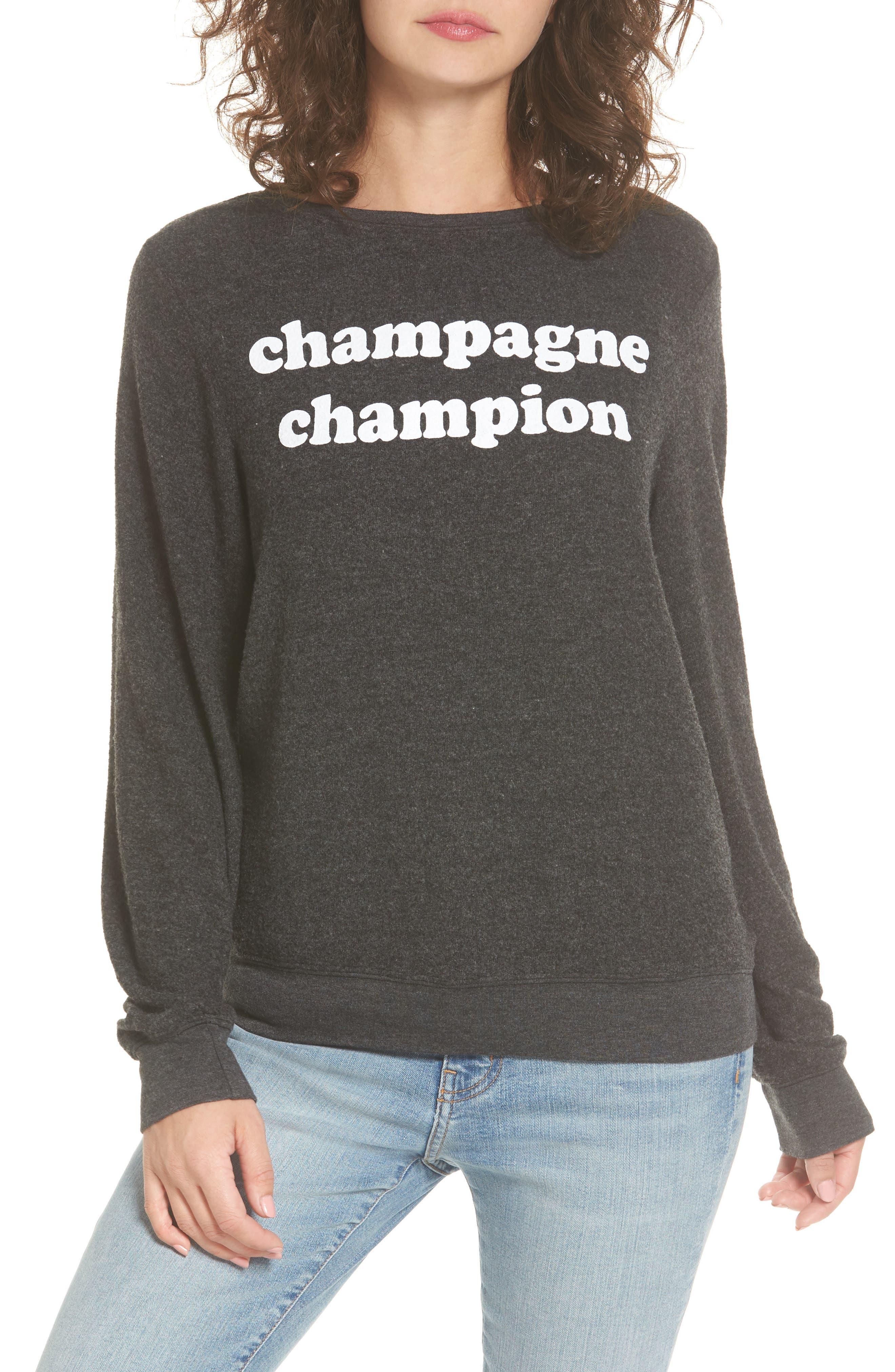 Main Image - Dream Scene Champagne Champion Sweatshirt