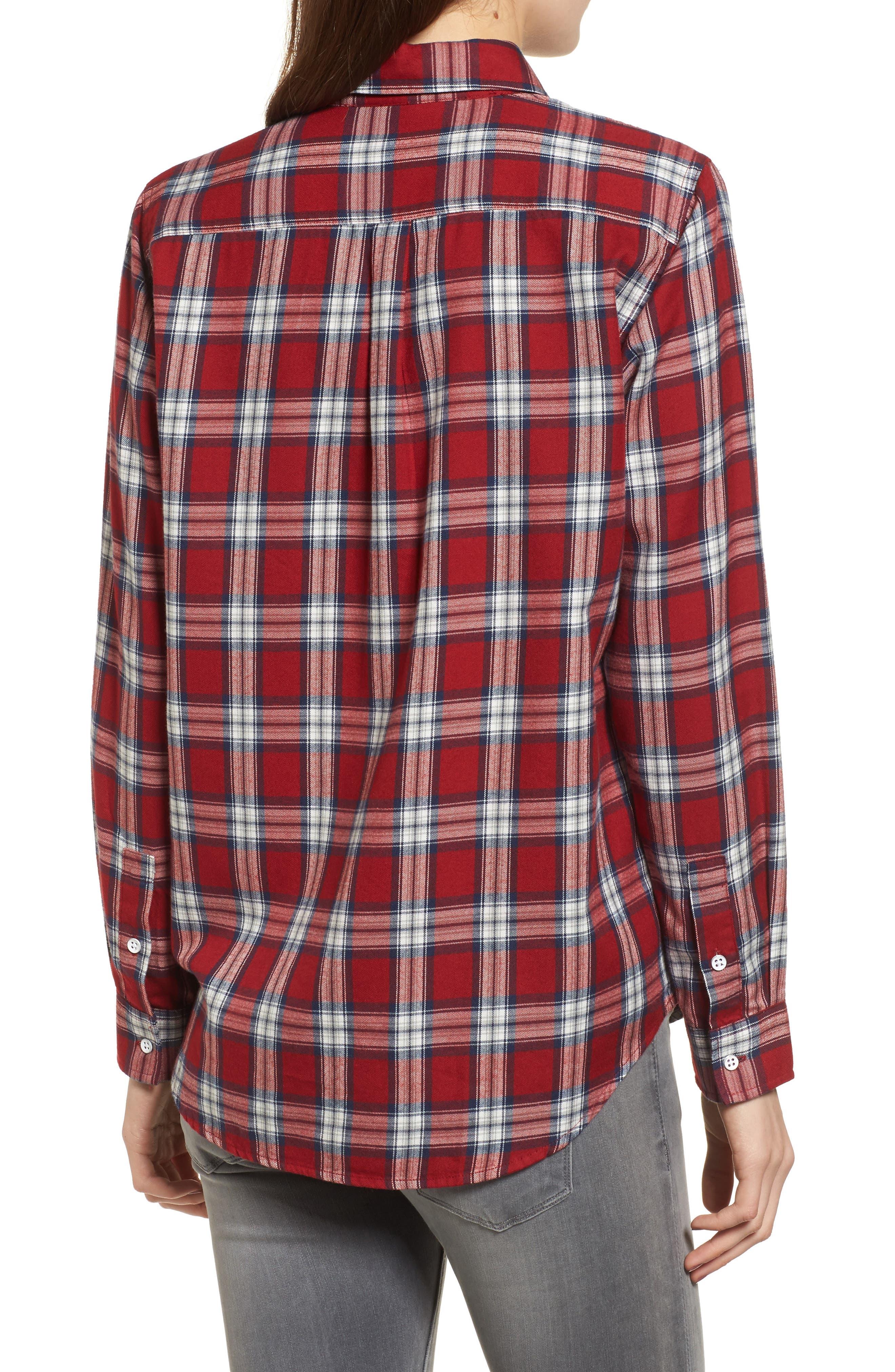 Mercer & Spring Plaid Shirt,                             Alternate thumbnail 2, color,                             Red Plaid
