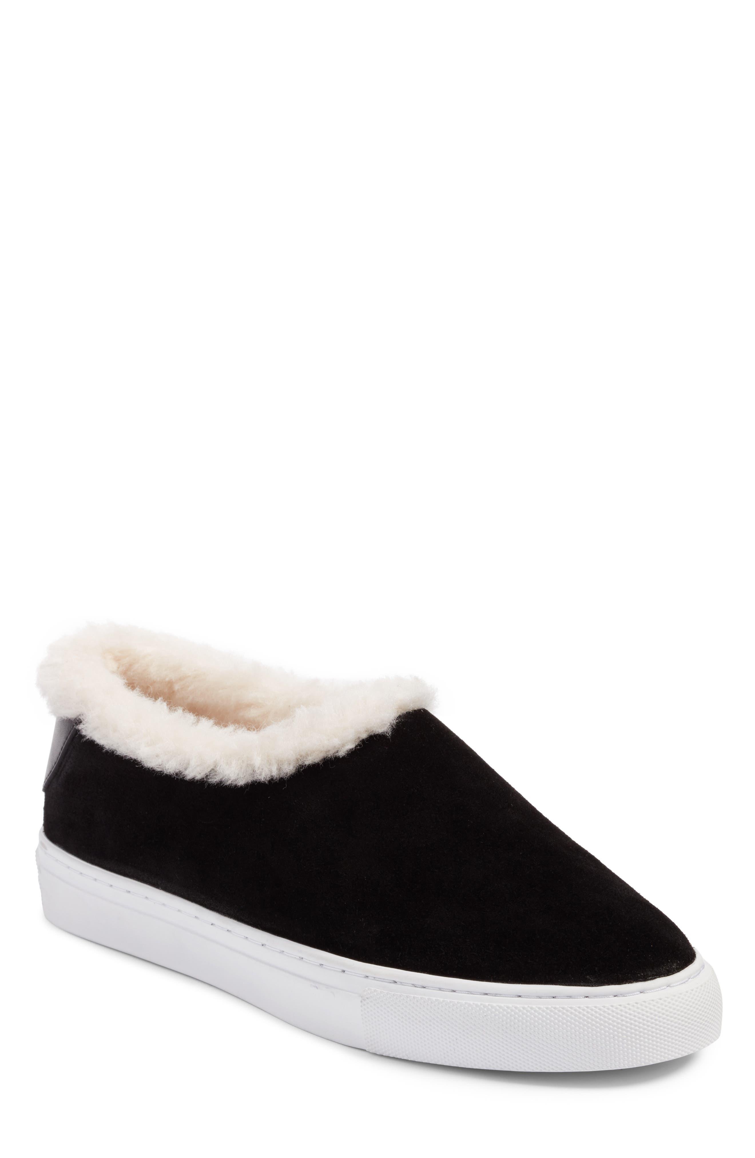 Tory Burch Miller Suede & Genuine Shearling Sneaker (Women)
