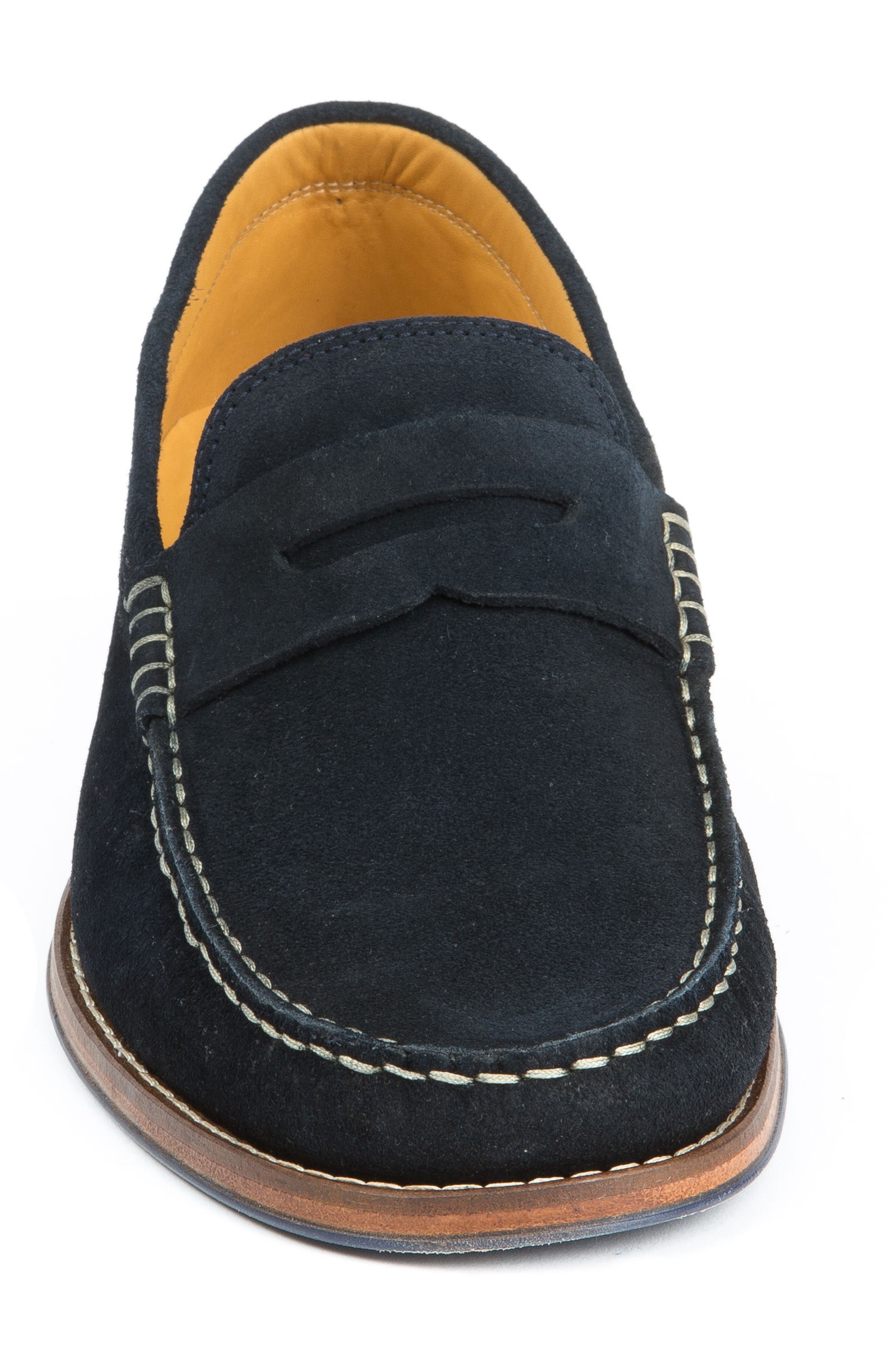Ripleys Penny Loafer,                             Alternate thumbnail 4, color,                             Navy Suede