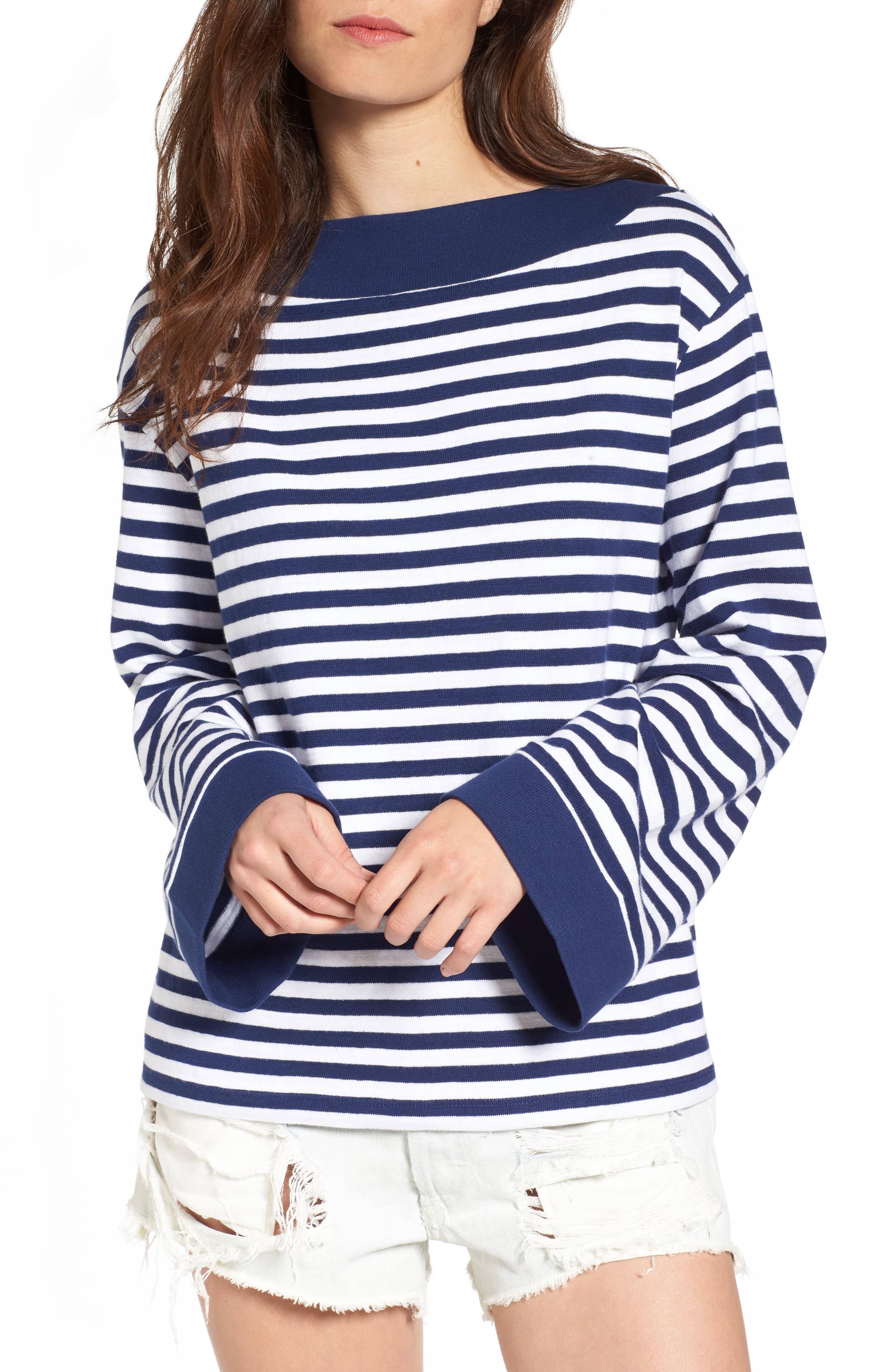 BP. Bell Sleeve Boatneck Sweater