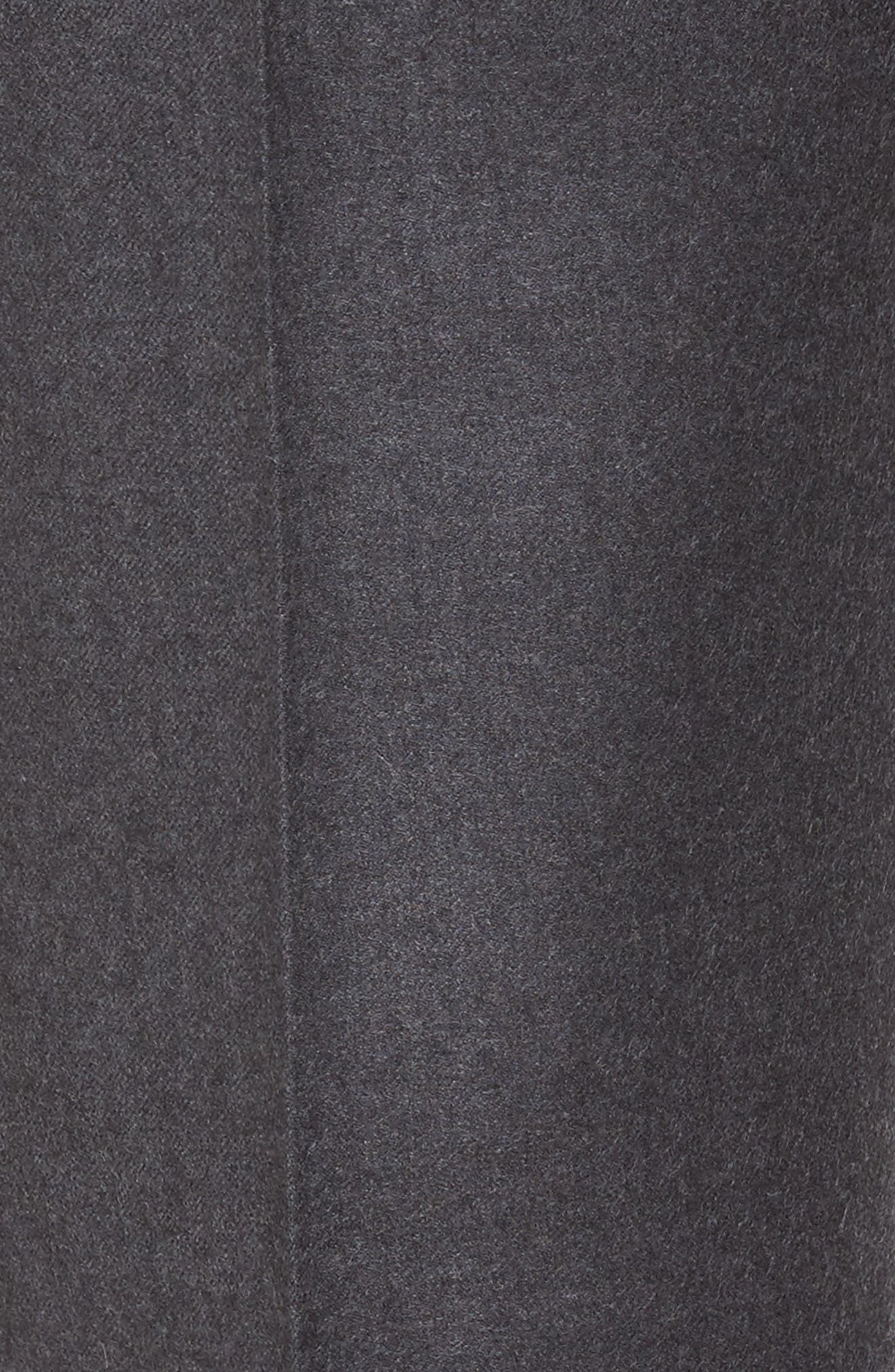 Alternate Image 5  - Nordstrom Men's Shop Flat Front Solid Wool Trousers