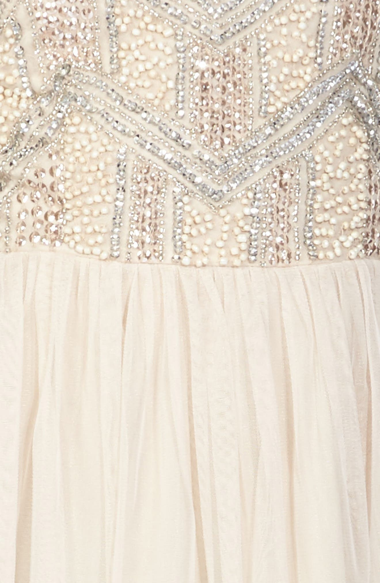 Alternate Image 5  - Lace & Beads Peach Embellished Skater Dress