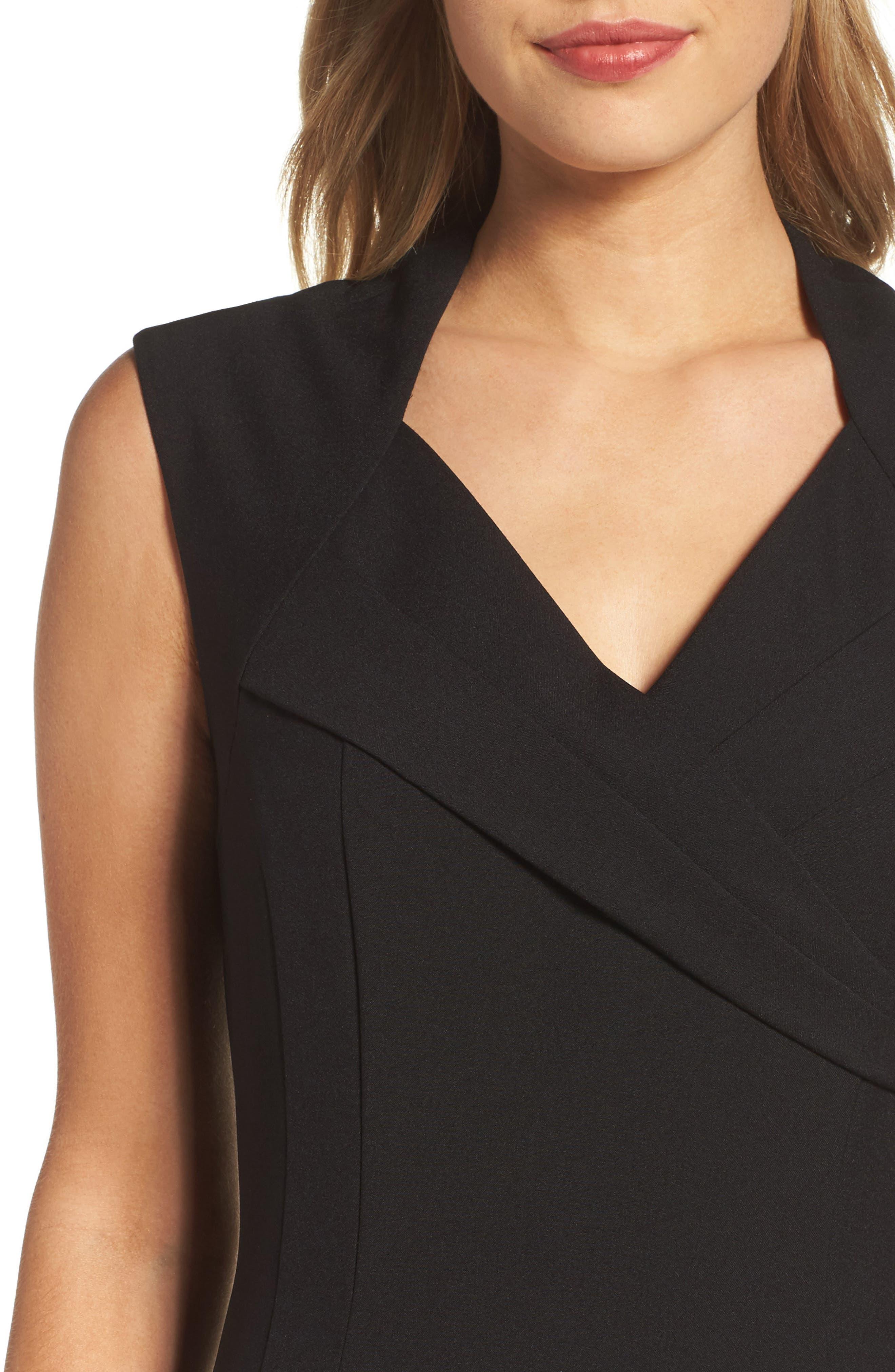 Sheath Dress,                             Alternate thumbnail 4, color,                             Black