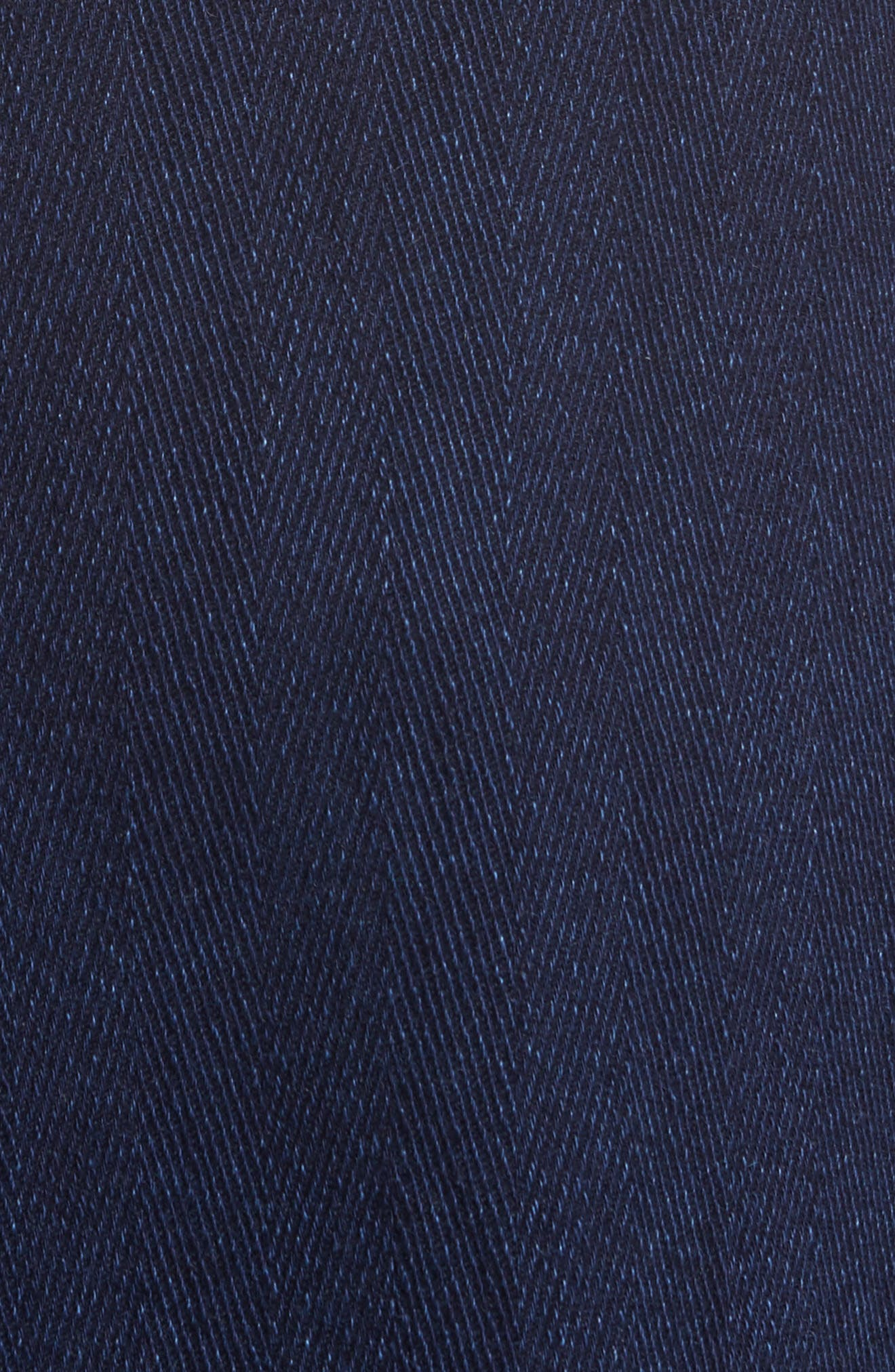 Herringbone Topcoat,                             Alternate thumbnail 5, color,                             Indigo