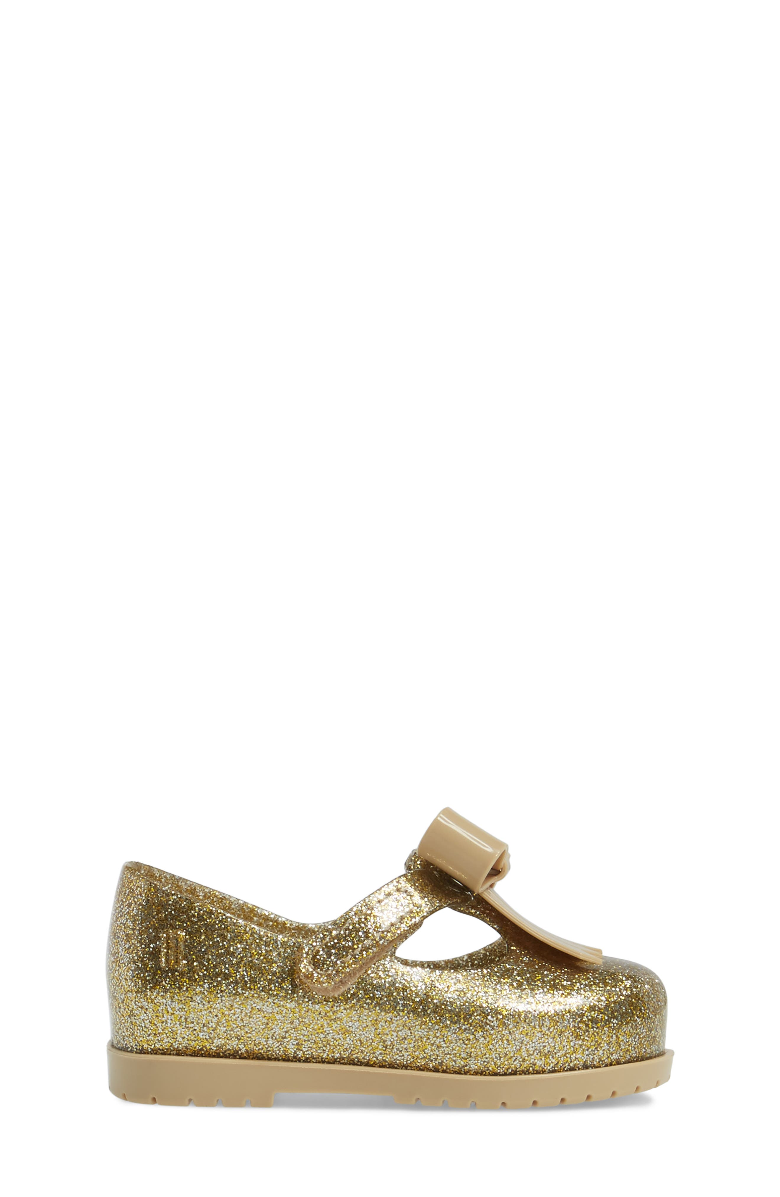 Classic Baby II Mary Jane,                             Alternate thumbnail 3, color,                             Gold Glass Glitter