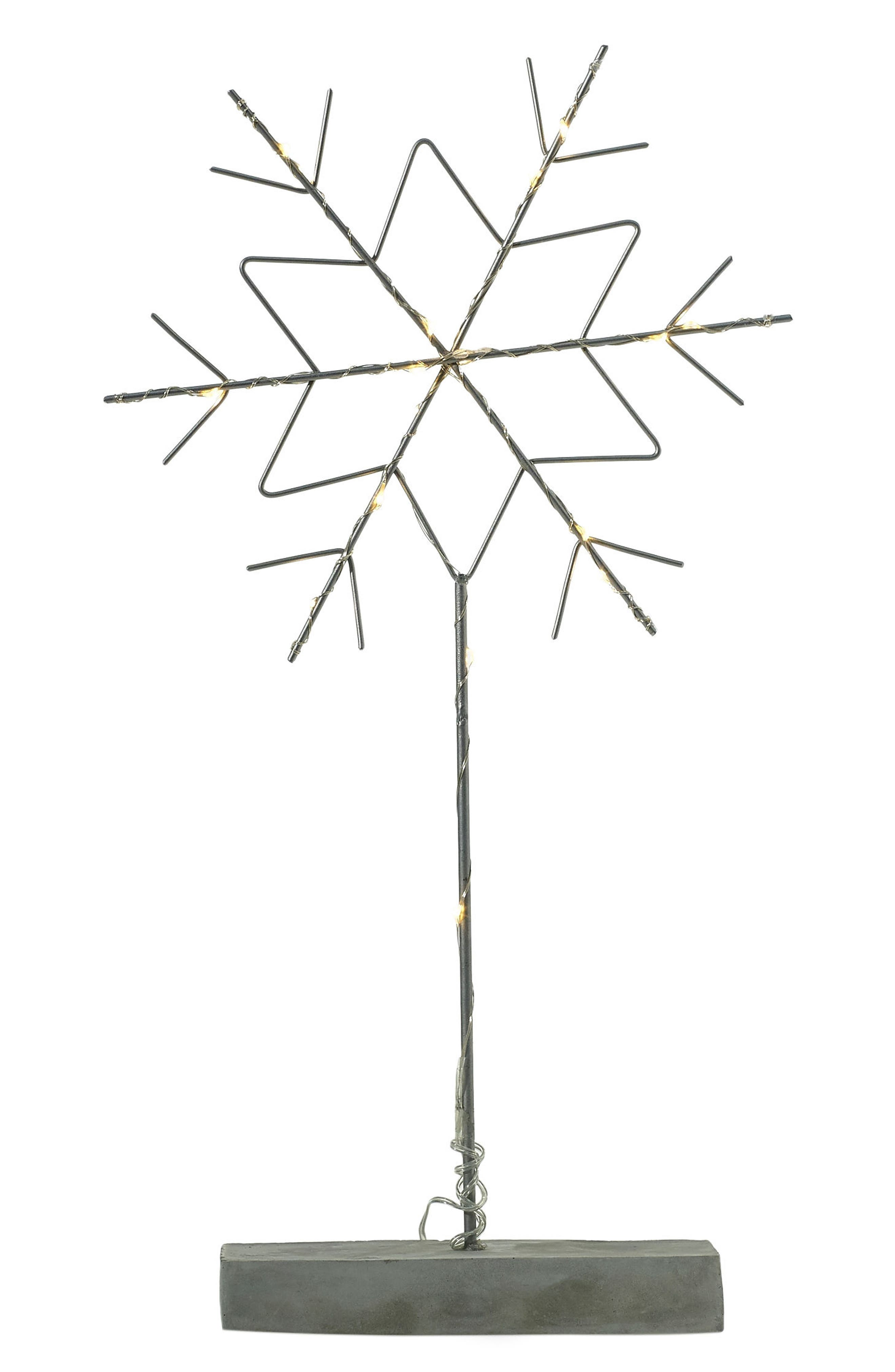 LED Snowflake Stand,                         Main,                         color, Silver