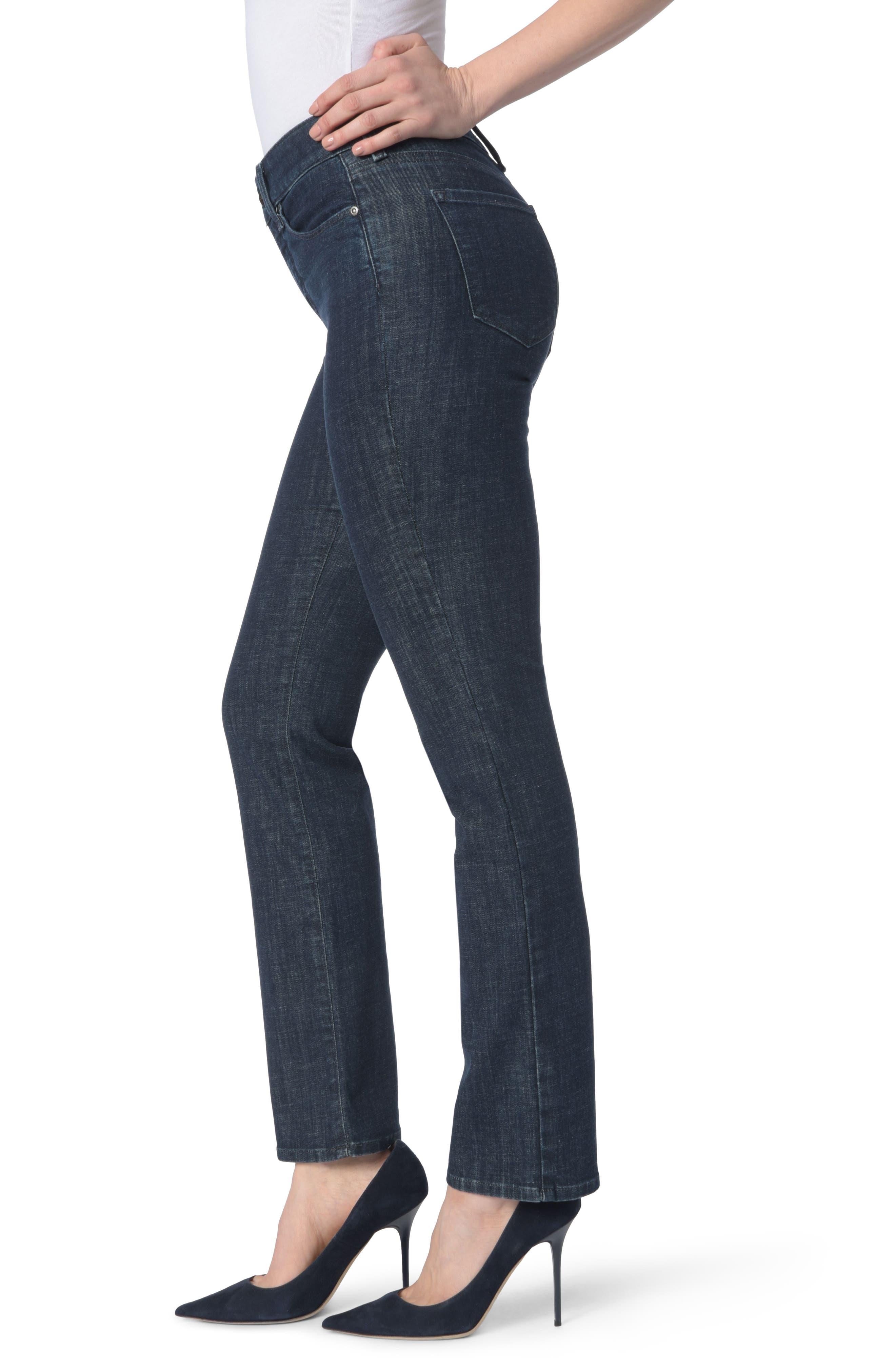 Alternate Image 3  - NYDJ Marilyn Stretch Straight Leg Jeans (Rambard)